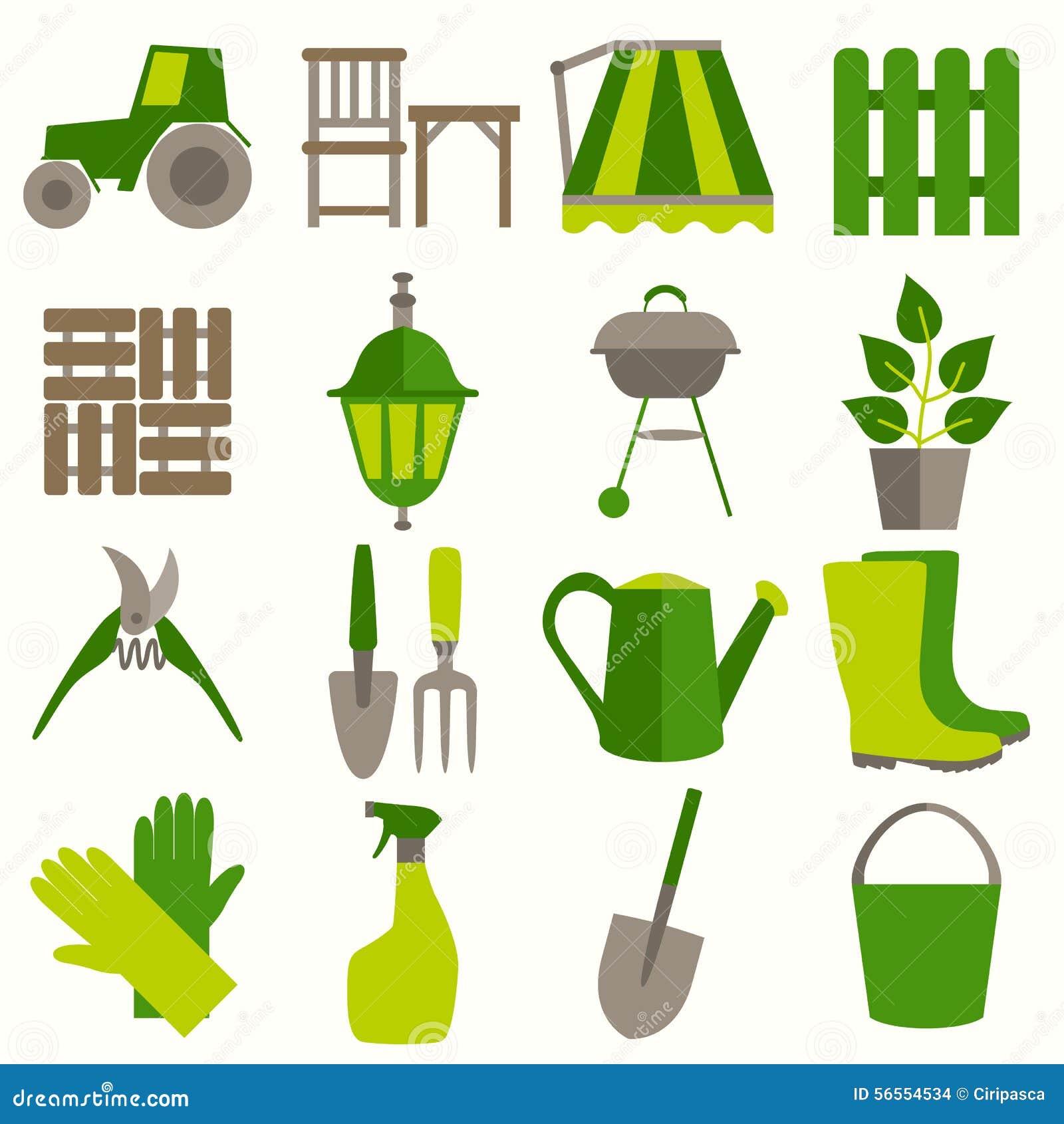 Download Επίπεδο σύνολο σχεδίου εικονιδίων εργαλείων κηπουρικής Διανυσματική απεικόνιση - εικονογραφία από καλλιέργεια, προσοχή: 56554534