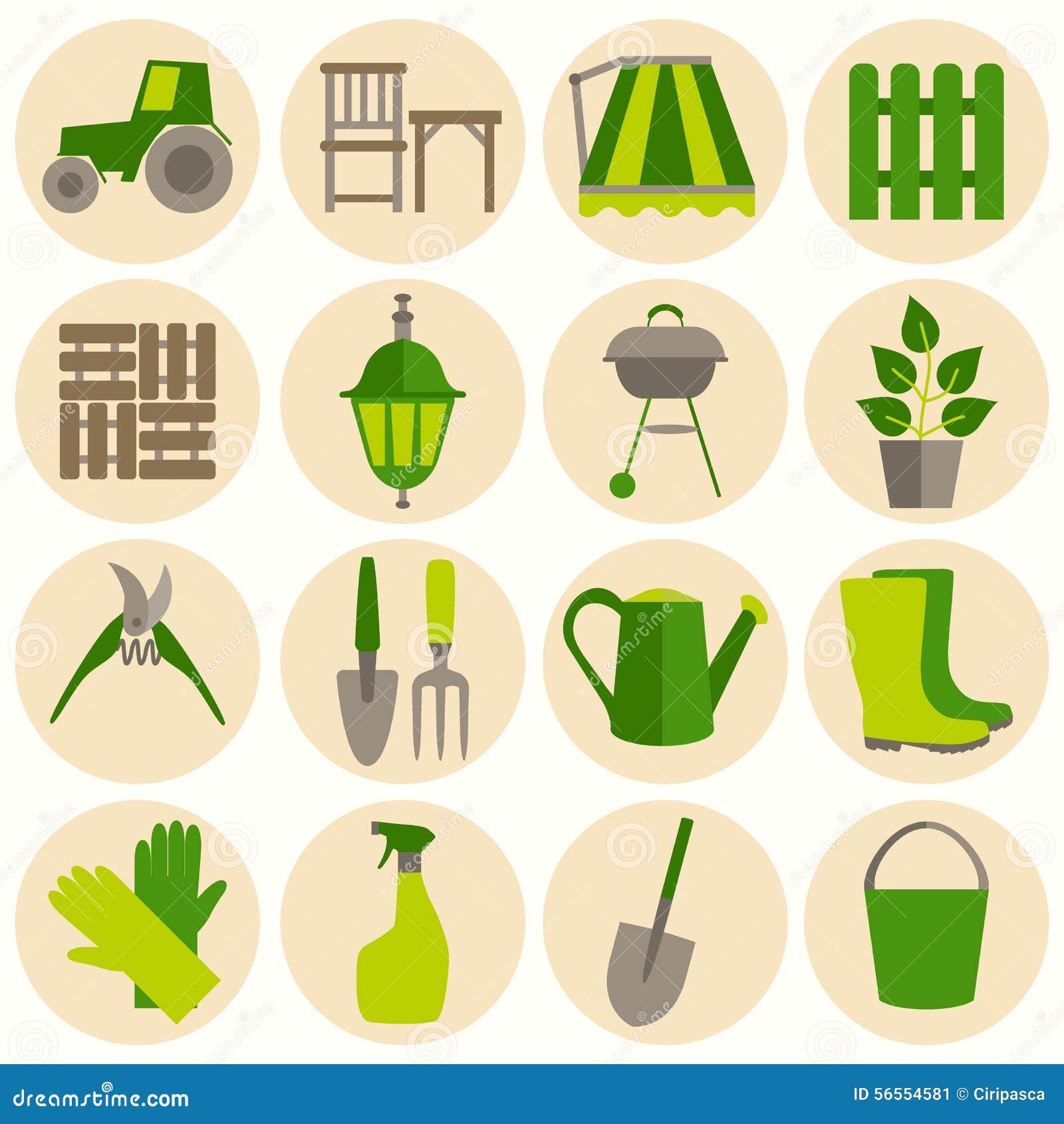 Download Επίπεδο σύνολο σχεδίου εικονιδίων εργαλείων κηπουρικής Διανυσματική απεικόνιση - εικονογραφία από καλλιεργήστε, γραφικός: 56554581