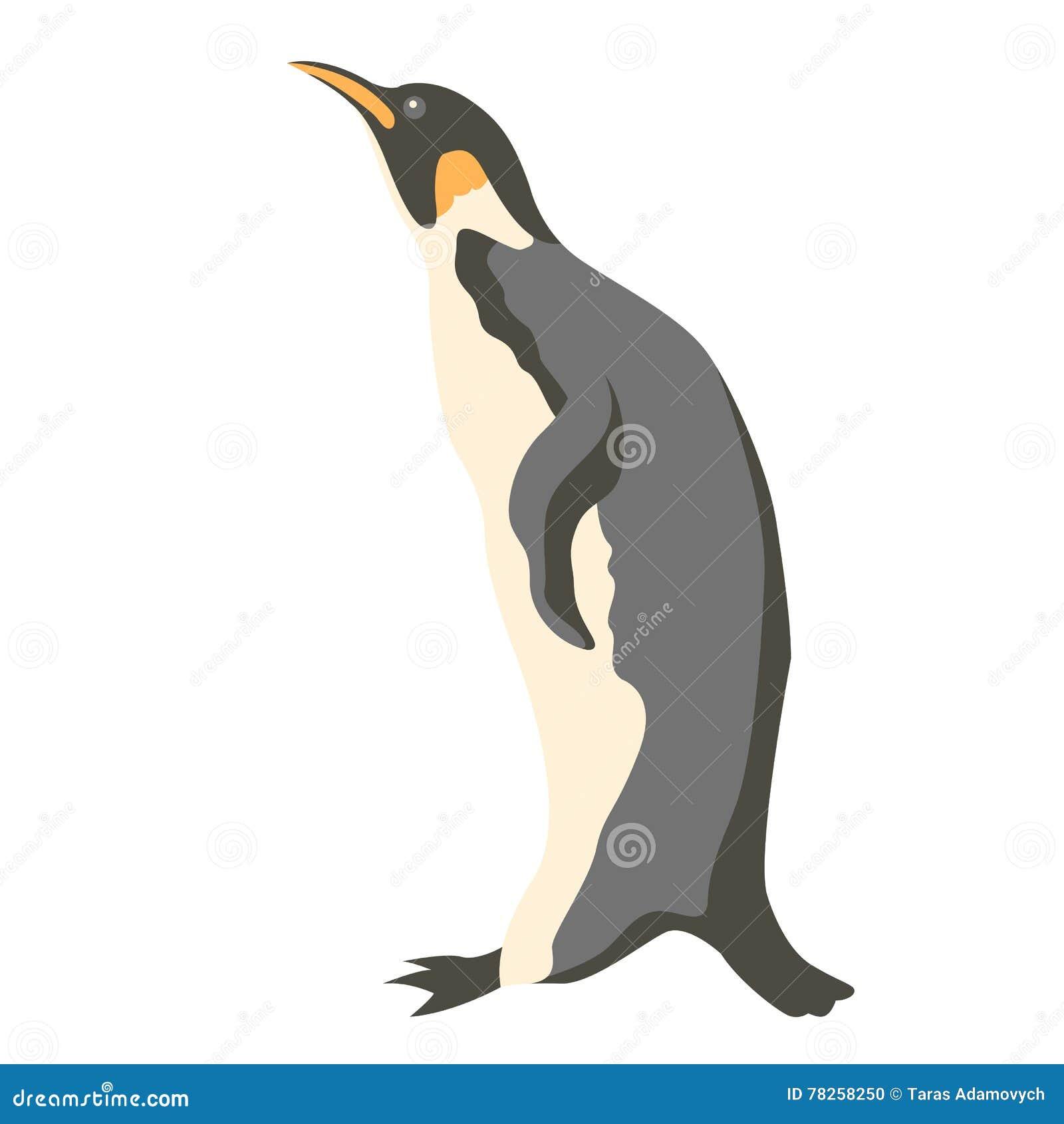 Επίπεδο ύφος απεικόνισης Penguin διανυσματικό