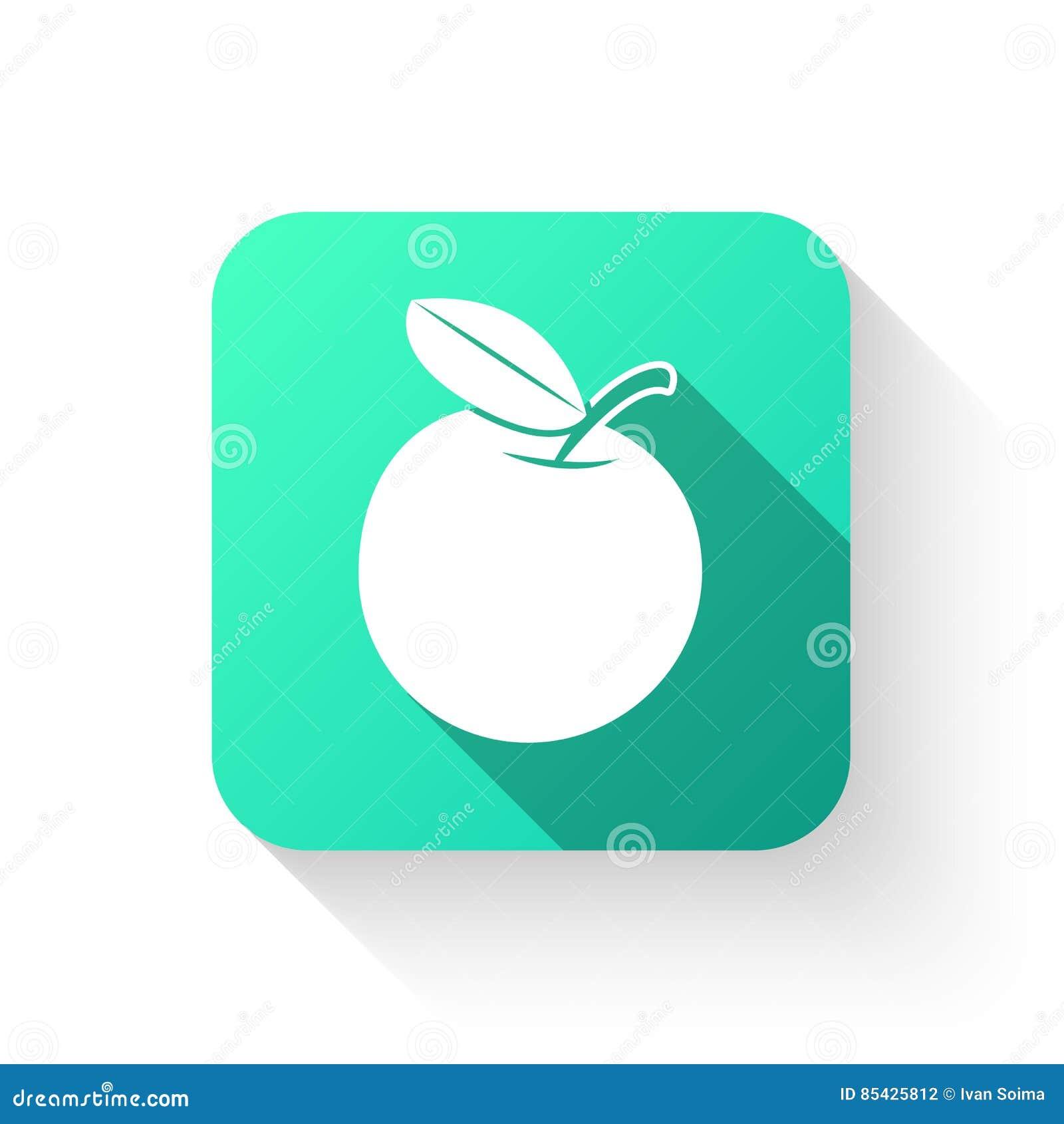 Επίπεδο ύφος εικονιδίων συμβόλων της Apple σε ένα άσπρο υπόβαθρο