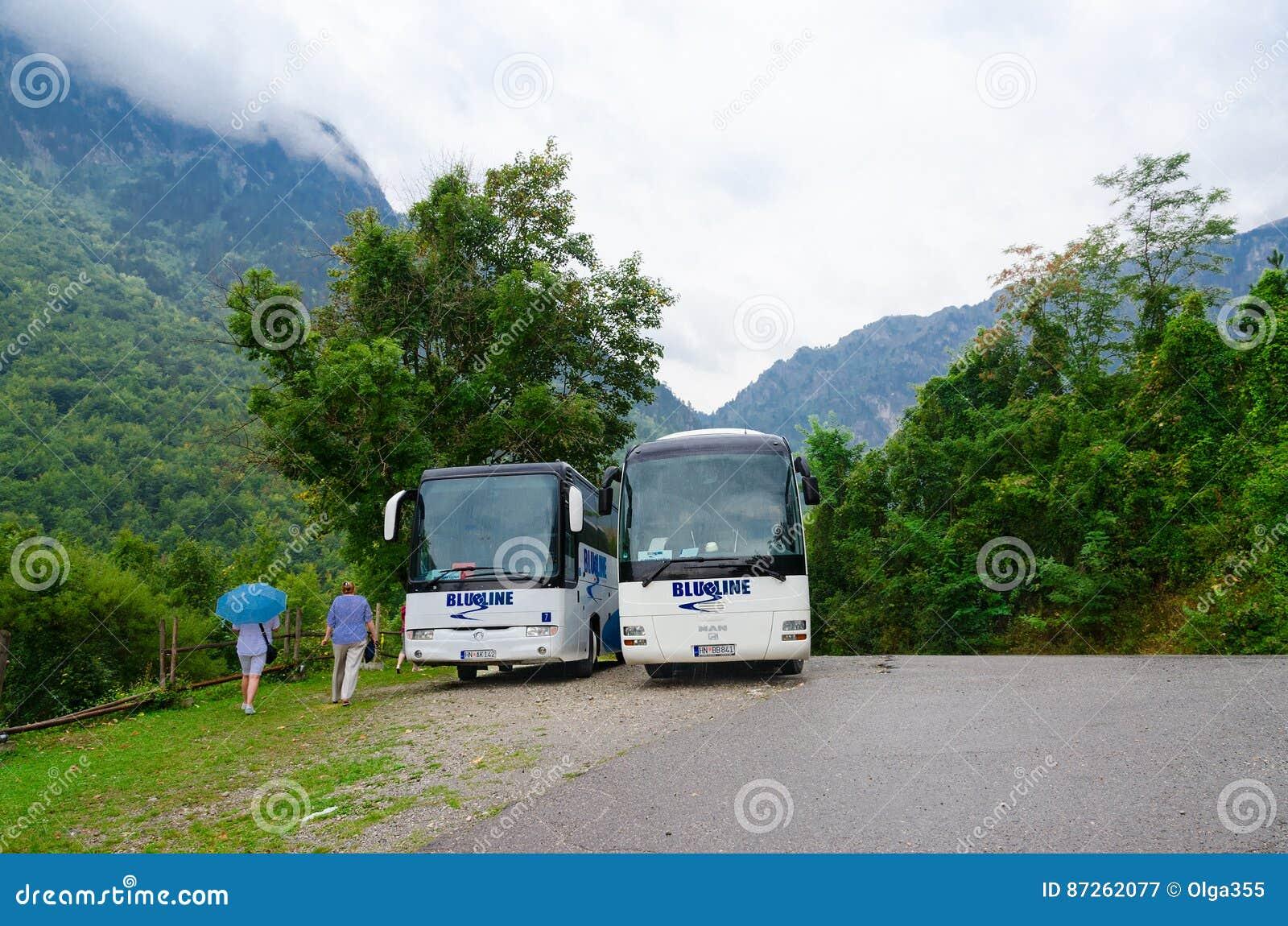 Επίσκεψη των λεωφορείων στη ορεινή περιοχή, Kolasin, Μαυροβούνιο