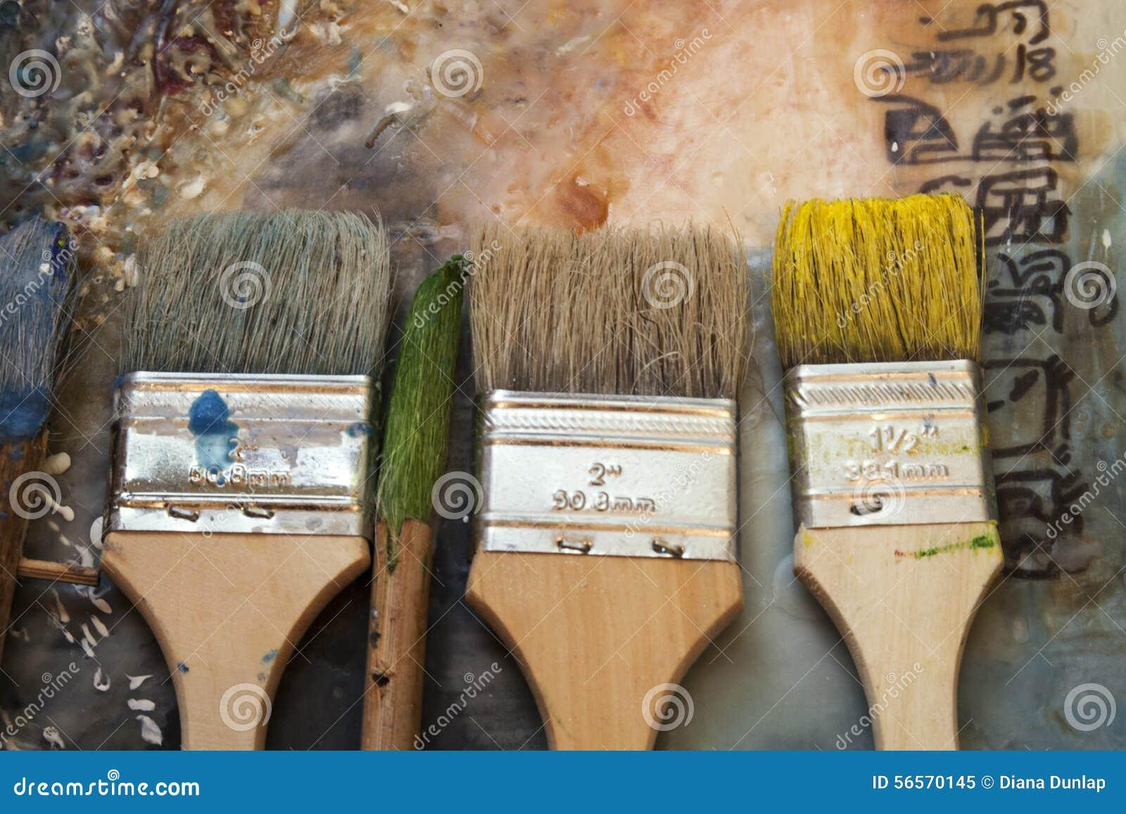 Download Επίδειξη βουρτσών Encoustic Στοκ Εικόνα - εικόνα από σιέννα, τόνοι: 56570145