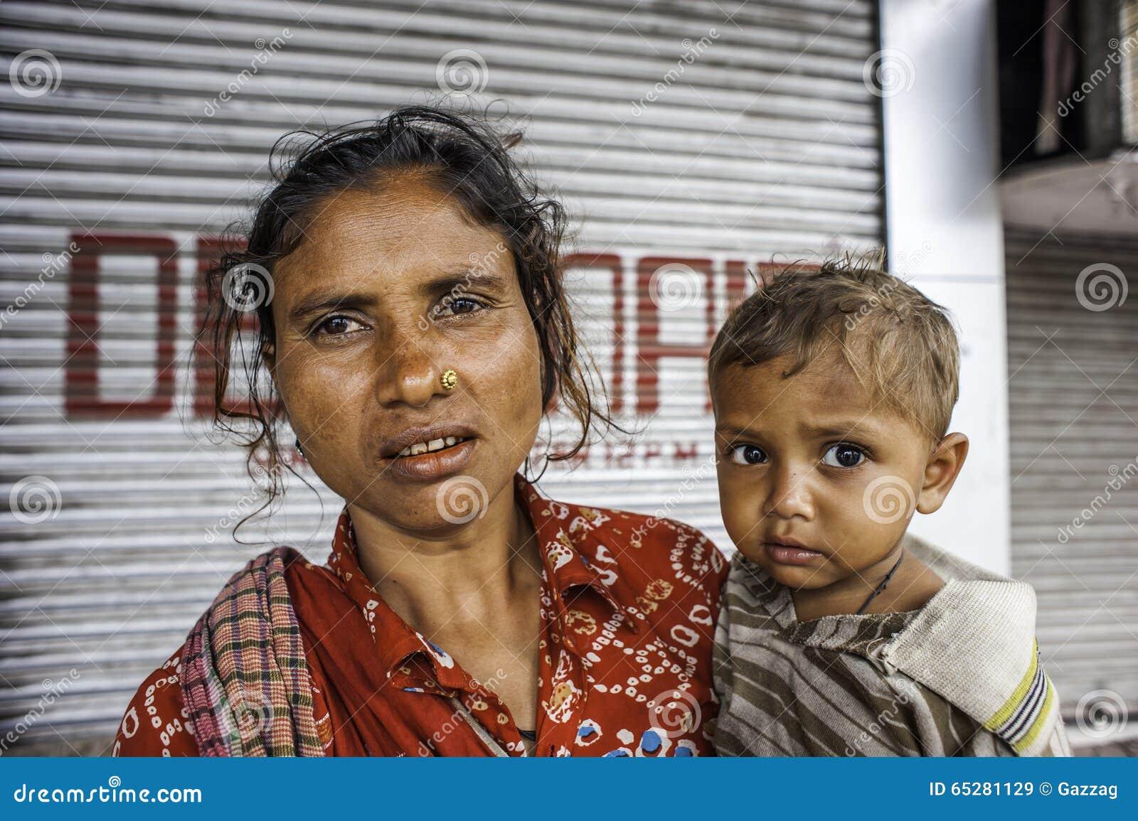 Επαίτες στην οδό σε Kolkata, Ινδία