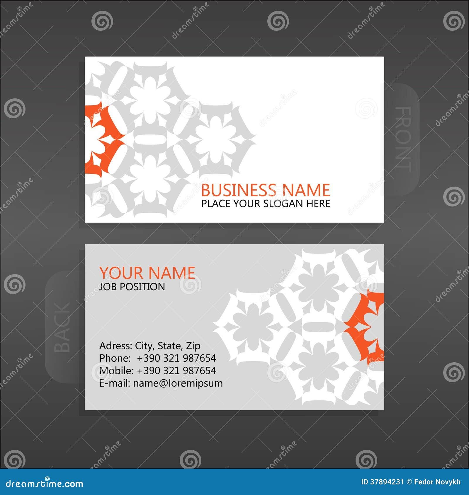 Επαγγελματική κάρτα. Floral
