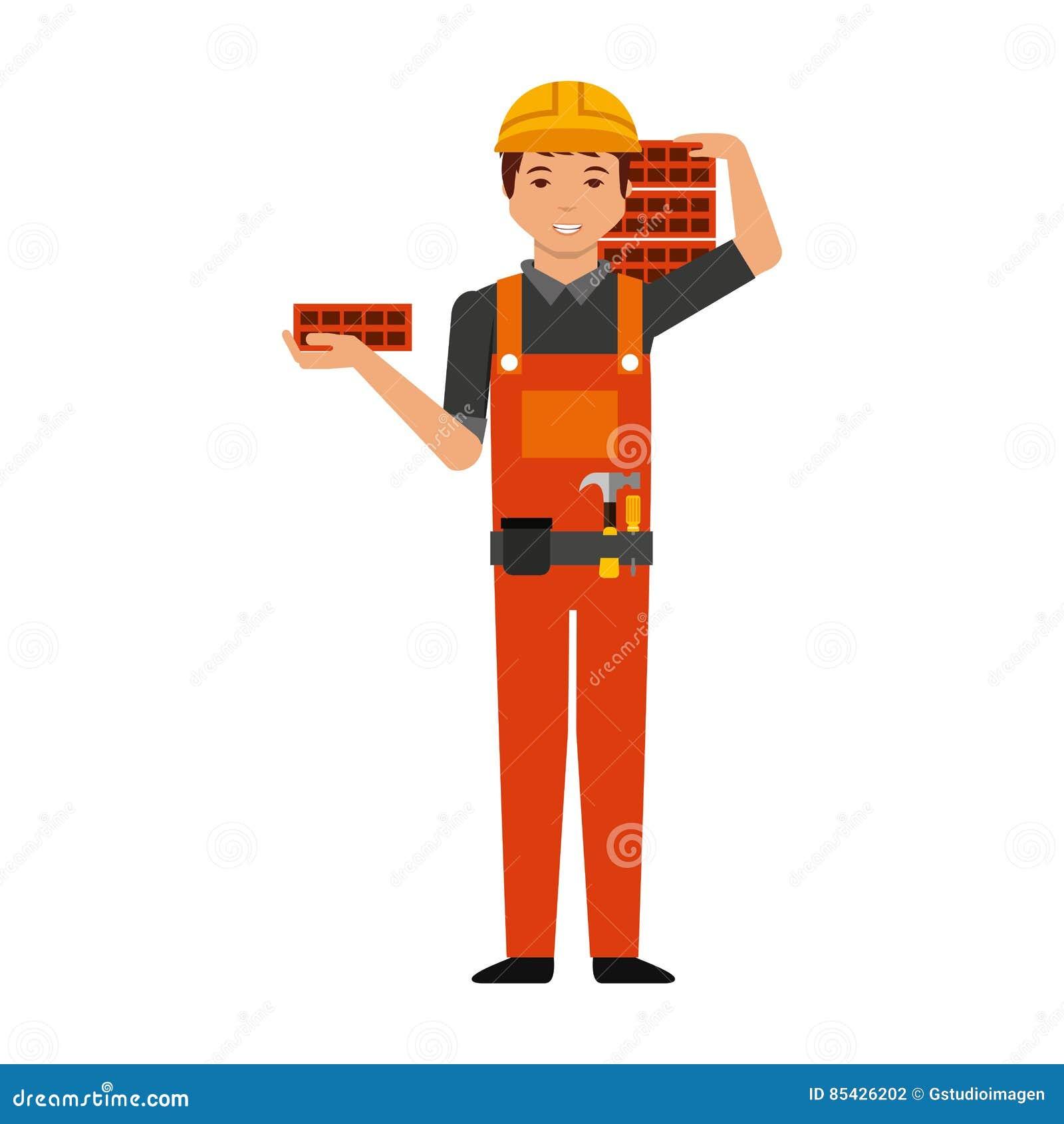Επαγγελματικός χαρακτήρας ειδώλων κατασκευής