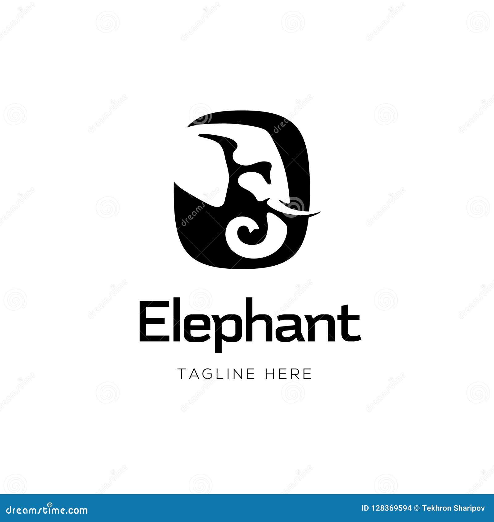 Επικεφαλής σχέδιο λογότυπων σημαδιών ελεφάντων