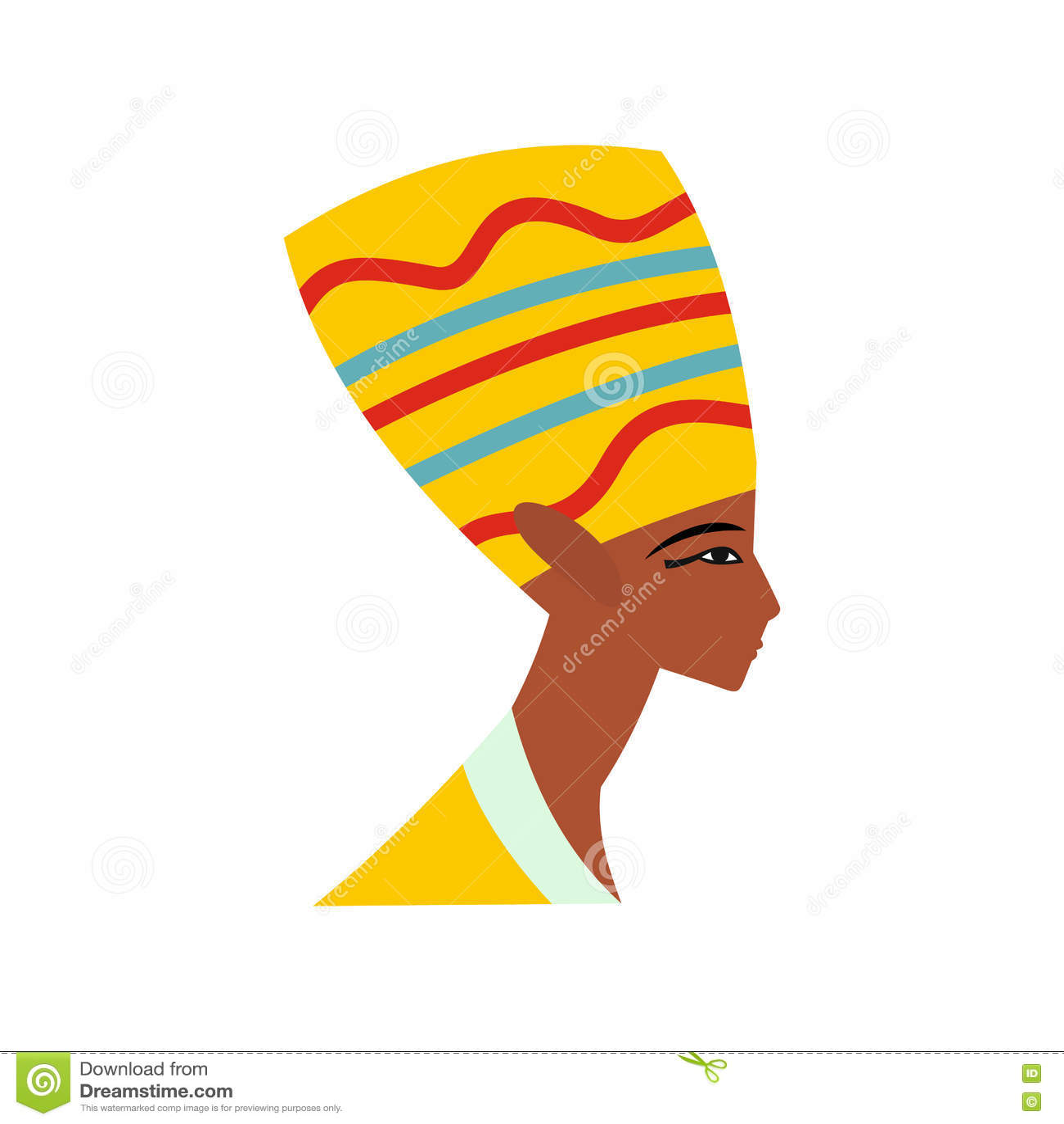 Επικεφαλής του εικονιδίου Nefertiti, επίπεδο ύφος