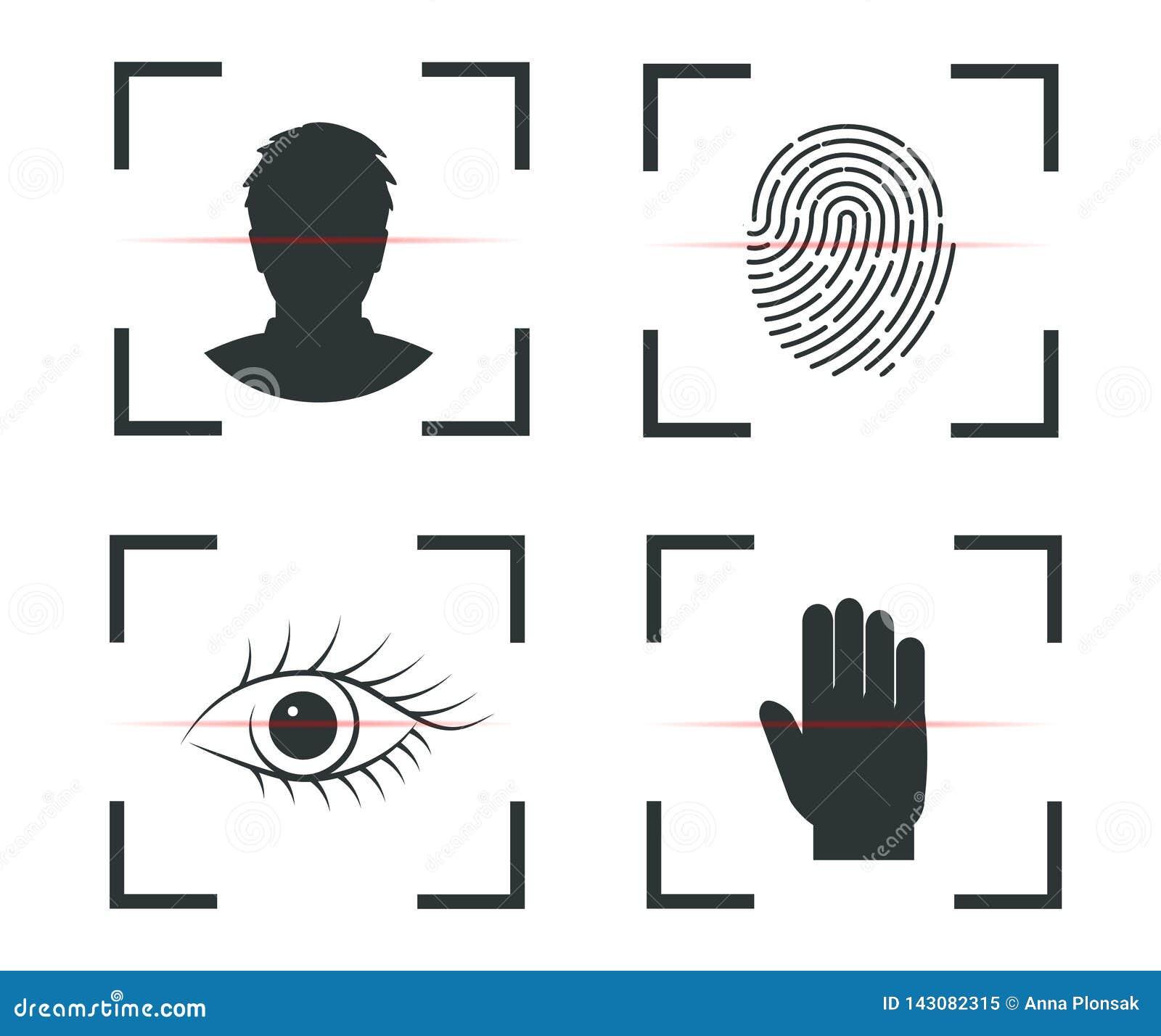 Επικύρωση της ταυτότητας Αναγνώριση προσώπου, δακτυλικό αποτύπωμα, αμφιβληστροειδής, χέρι