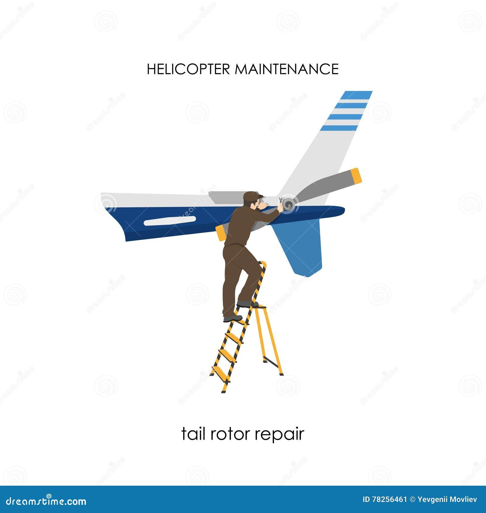 Επισκευή και συντήρηση των ελικοπτέρων Επισκευή του στροφέα ουρών