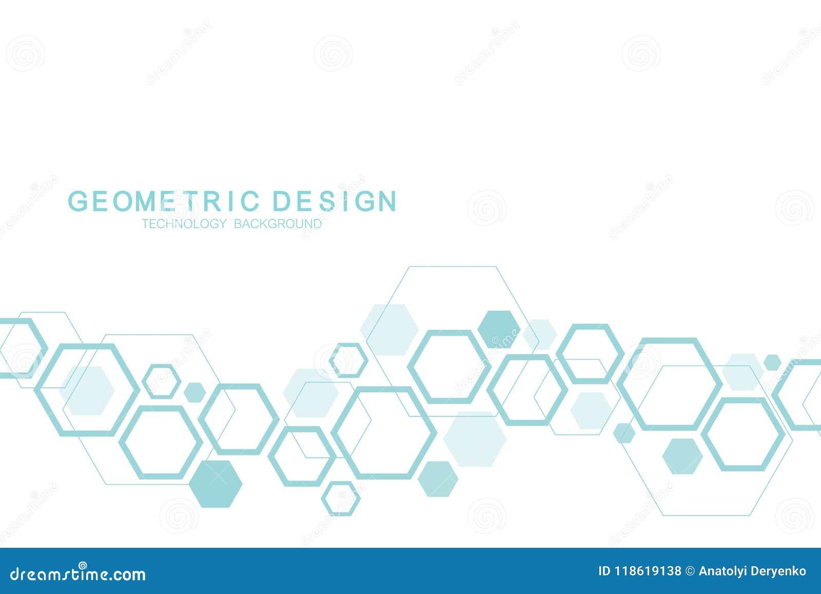 Επιστημονικό υπόβαθρο μορίων για την ιατρική, επιστήμη, τεχνολογία, χημεία Ταπετσαρία ή έμβλημα με τα μόρια ενός DNA