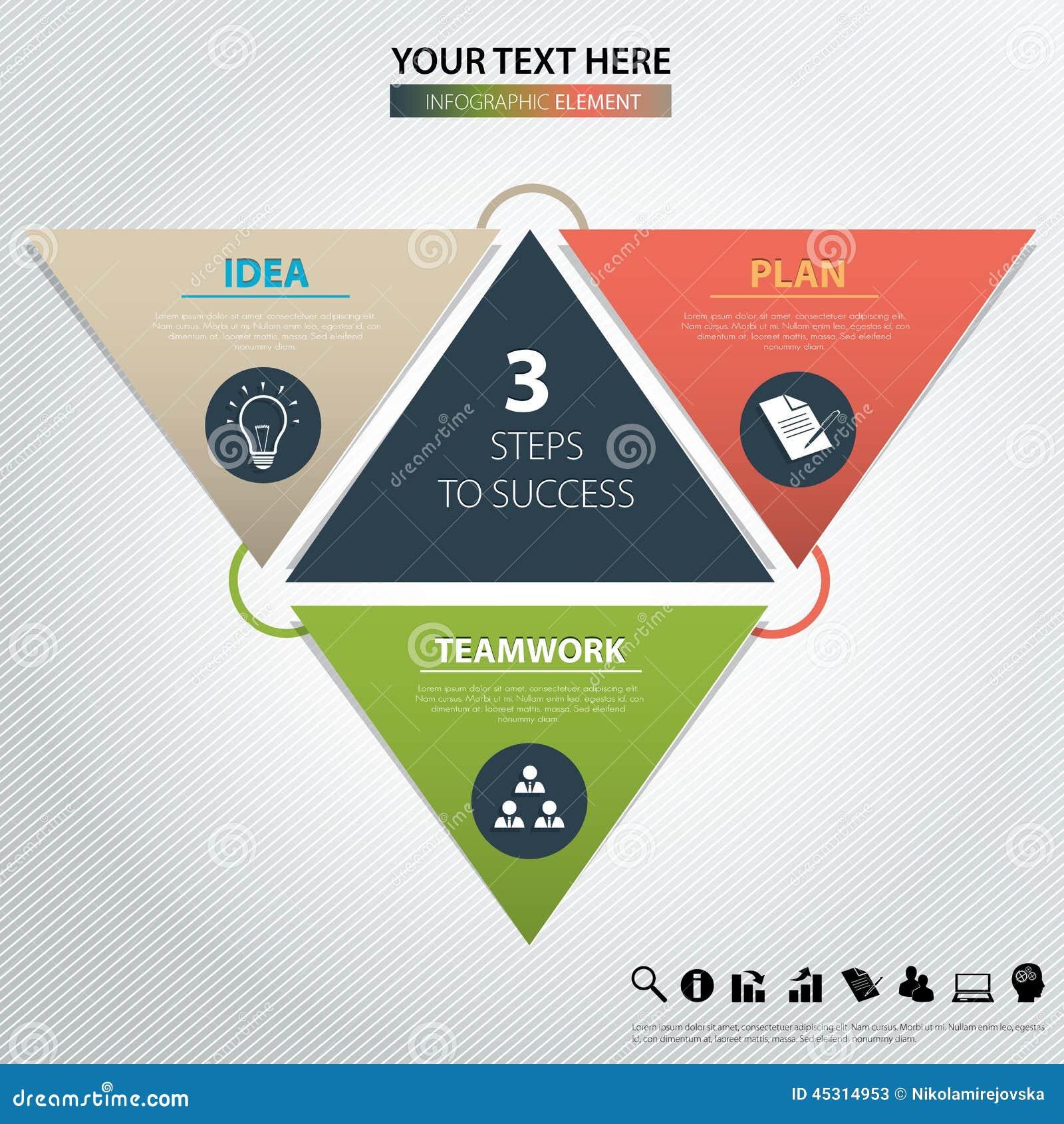 επιτυχία τρία βημάτων το σχέδιο εύκολο επιμελείται το στοιχείο στο διάνυσμα