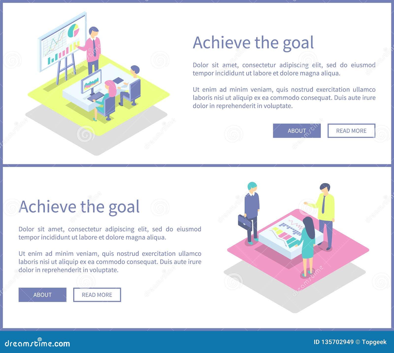 Επιτύχετε την καθορισμένη διανυσματική απεικόνιση παρουσίασης στόχου
