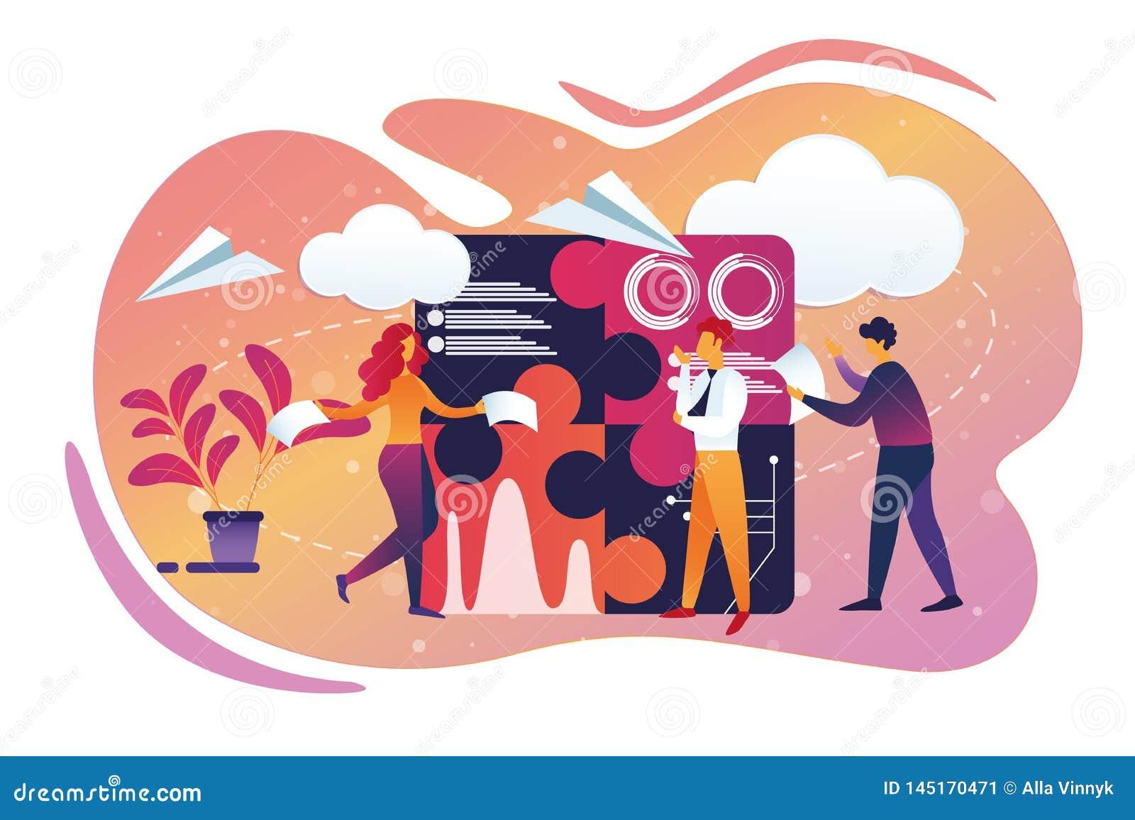 Επιχείρηση γραφείων και διαδικασία Teamworking lifestyle