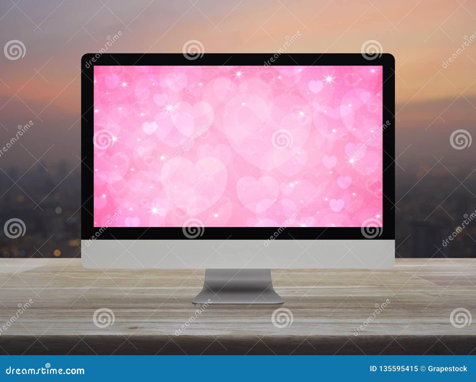 Επιχείρηση Διαδίκτυο που χρονολογεί on-line, έννοια ημέρας βαλεντίνων