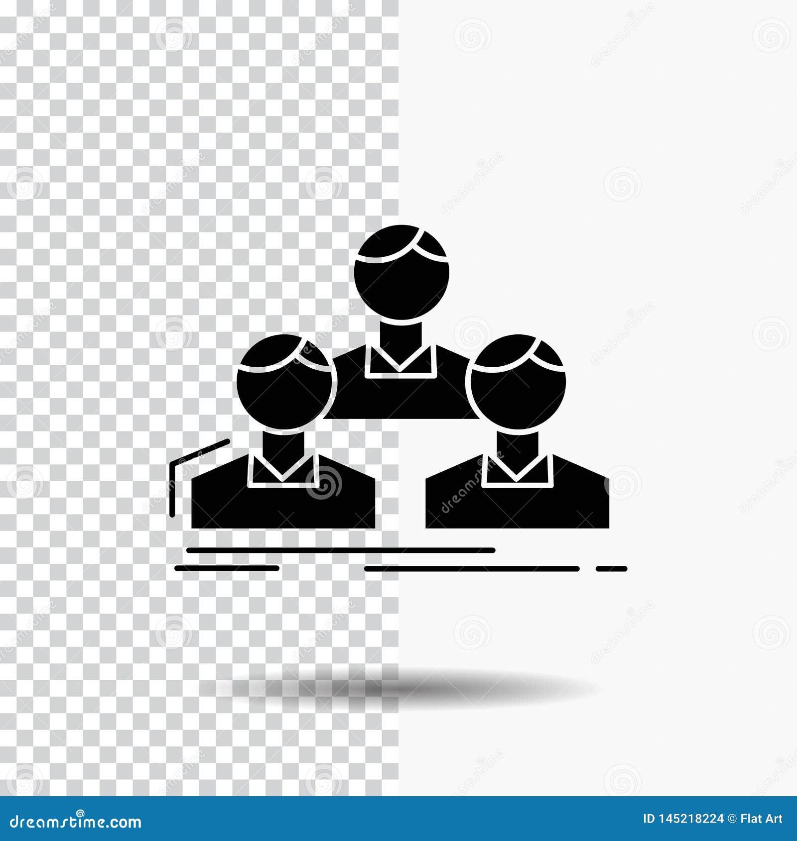 Επιχείρηση, υπάλληλος, ομάδα, άνθρωποι, εικονίδιο Glyph ομάδων στο διαφανές υπόβαθρο r
