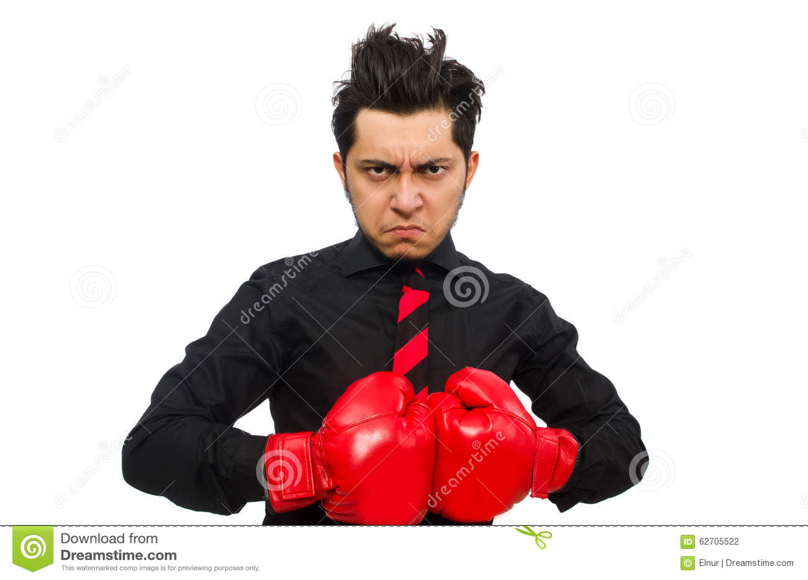Επιχειρηματίας ατόμων με τα κόκκινα εγκιβωτίζοντας γάντια