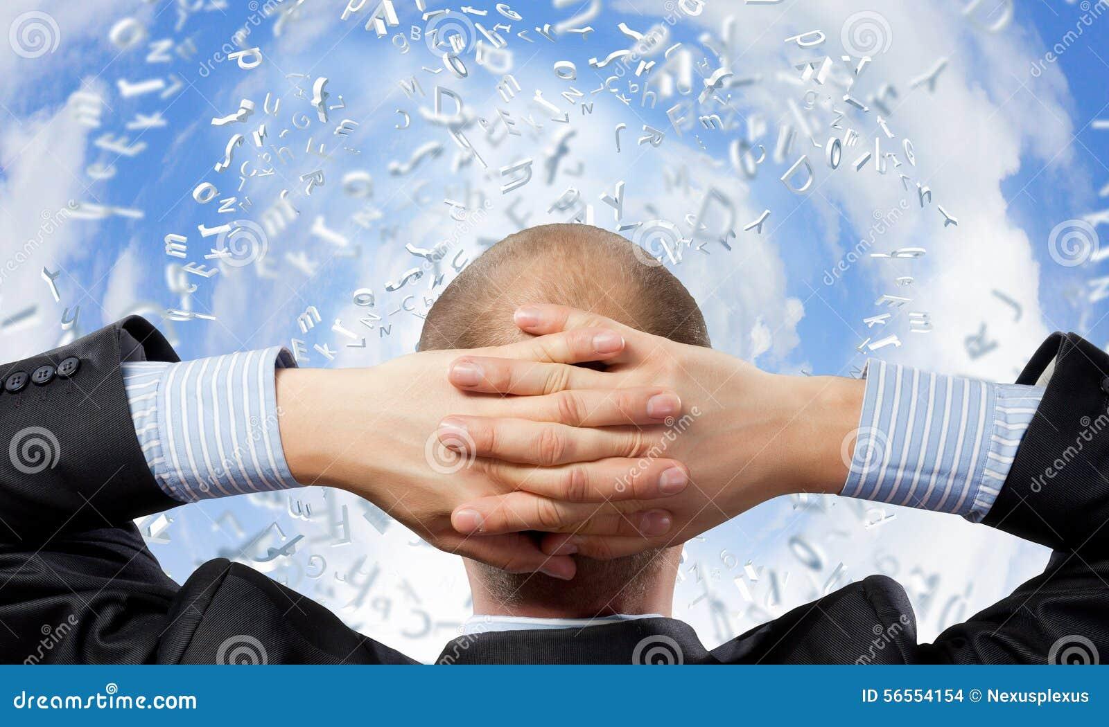 Download Επιχειρηματίας και πετώντας γρίφος Στοκ Εικόνες - εικόνα από μύγα, βρείτε: 56554154