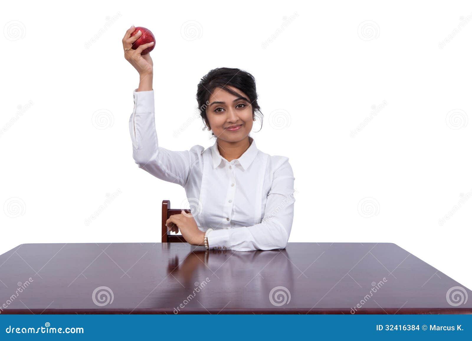 Επιχειρηματίας με ένα μήλο