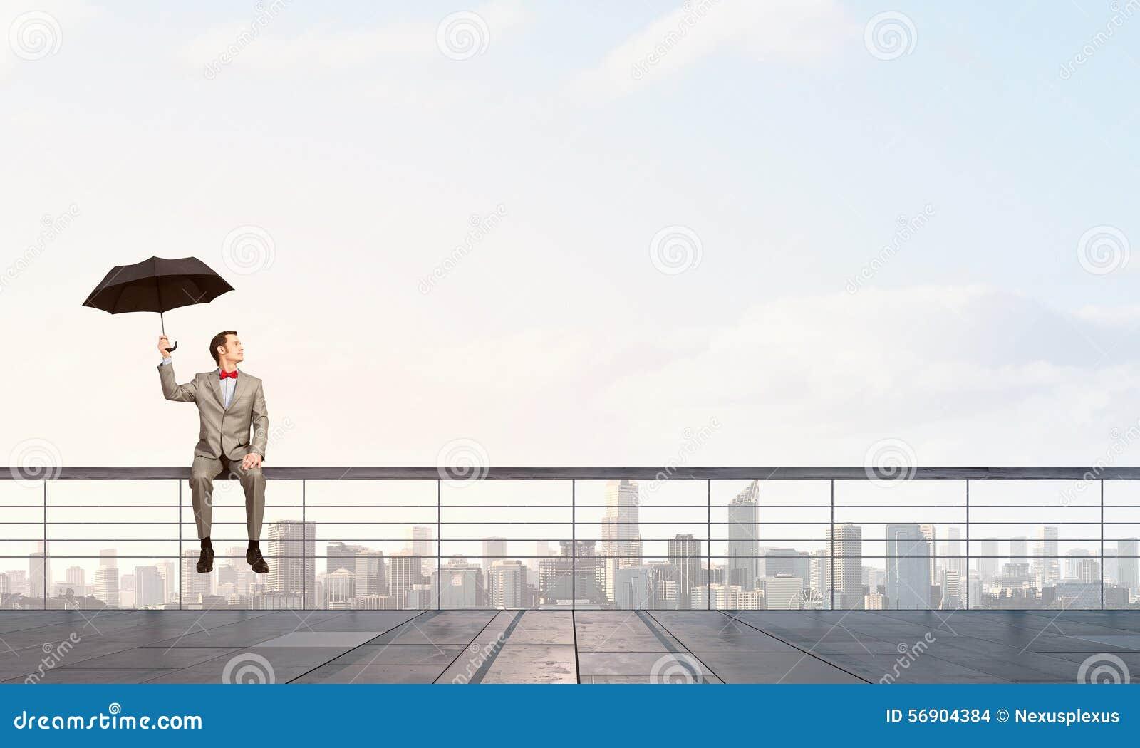 Επιχειρηματίας με την ομπρέλα