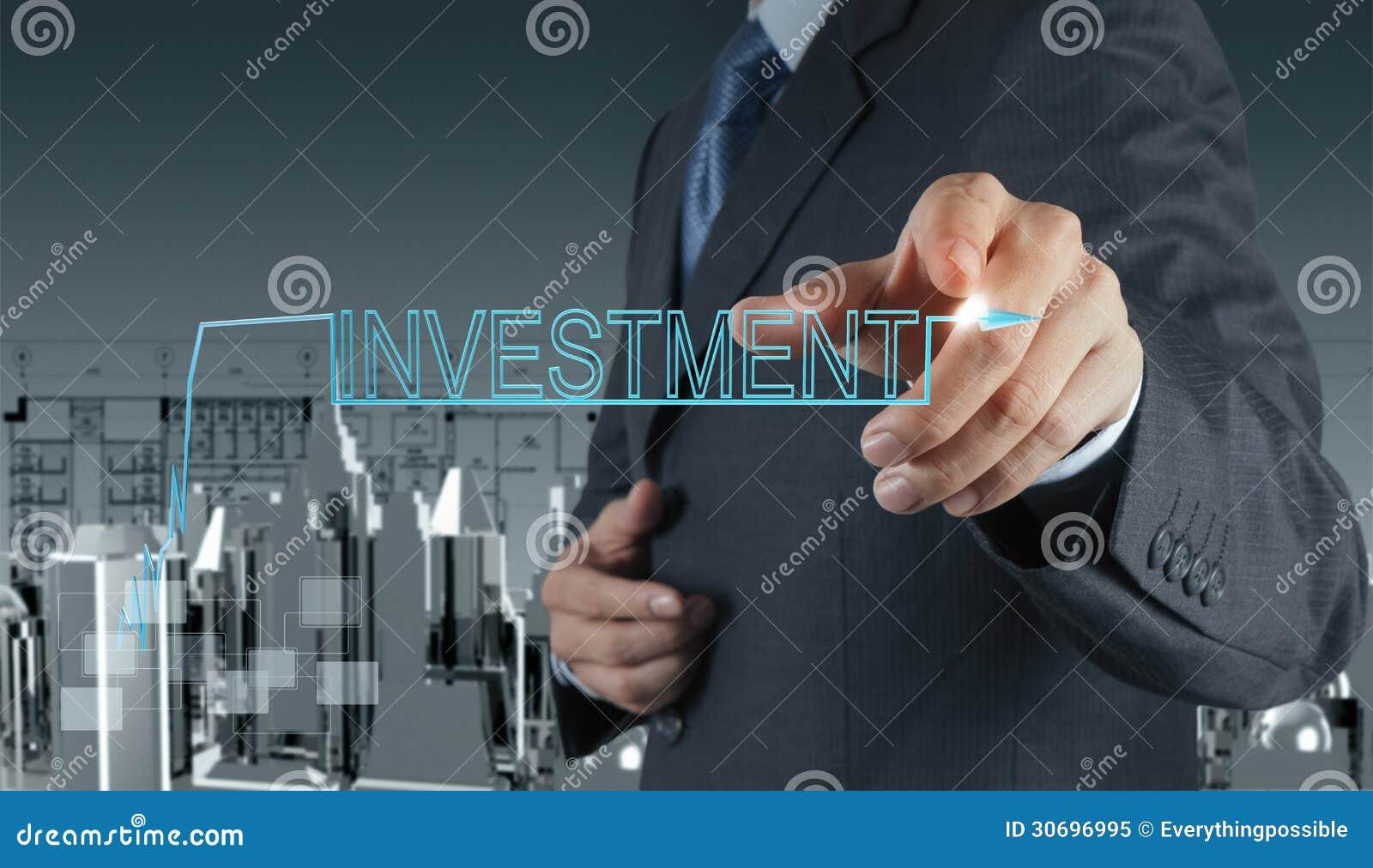 Επιχειρηματίας που δείχνει την έννοια επένδυσης