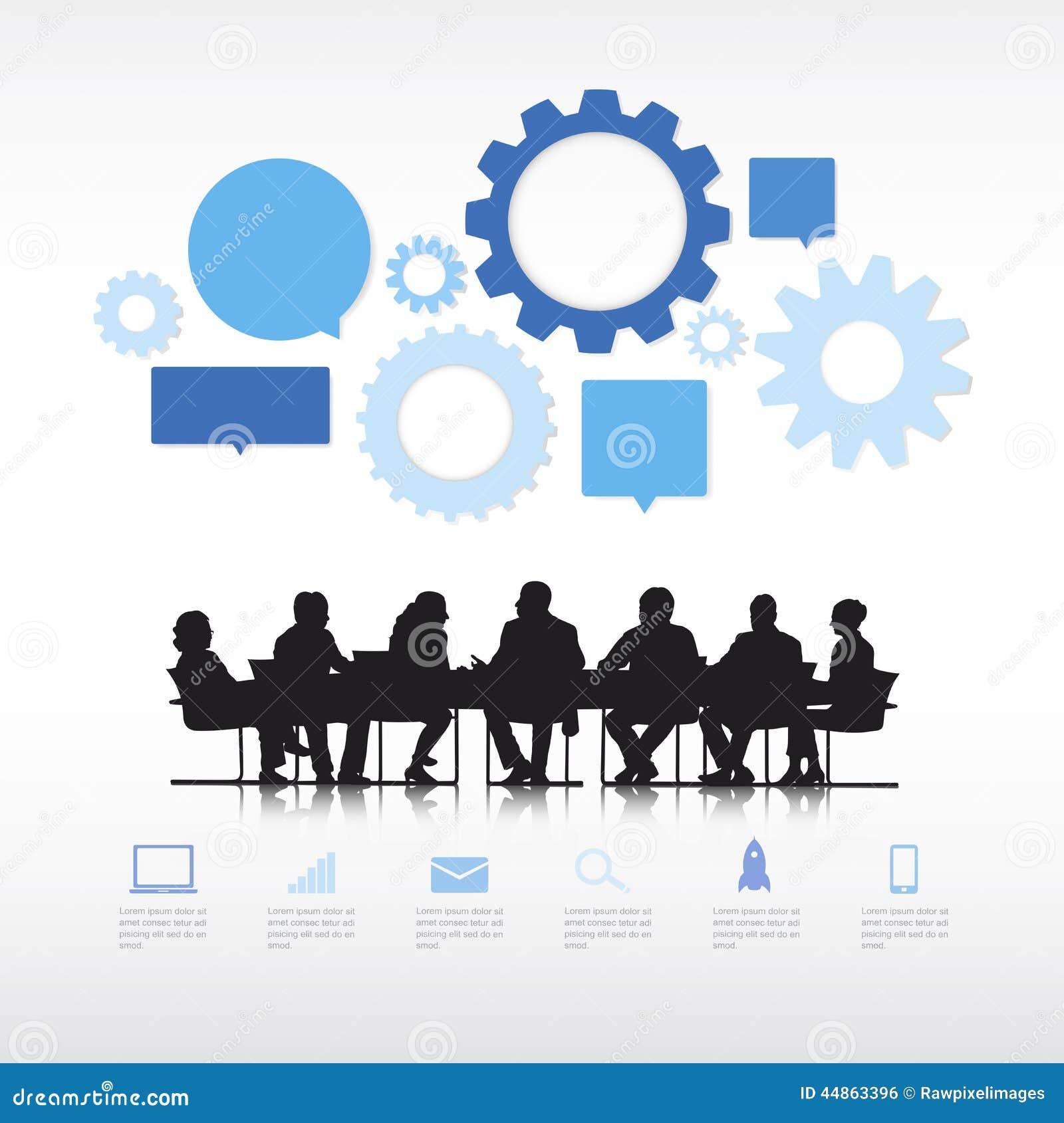 Επιχειρηματίες με τα πληροφορία-γραφικά στοιχεία