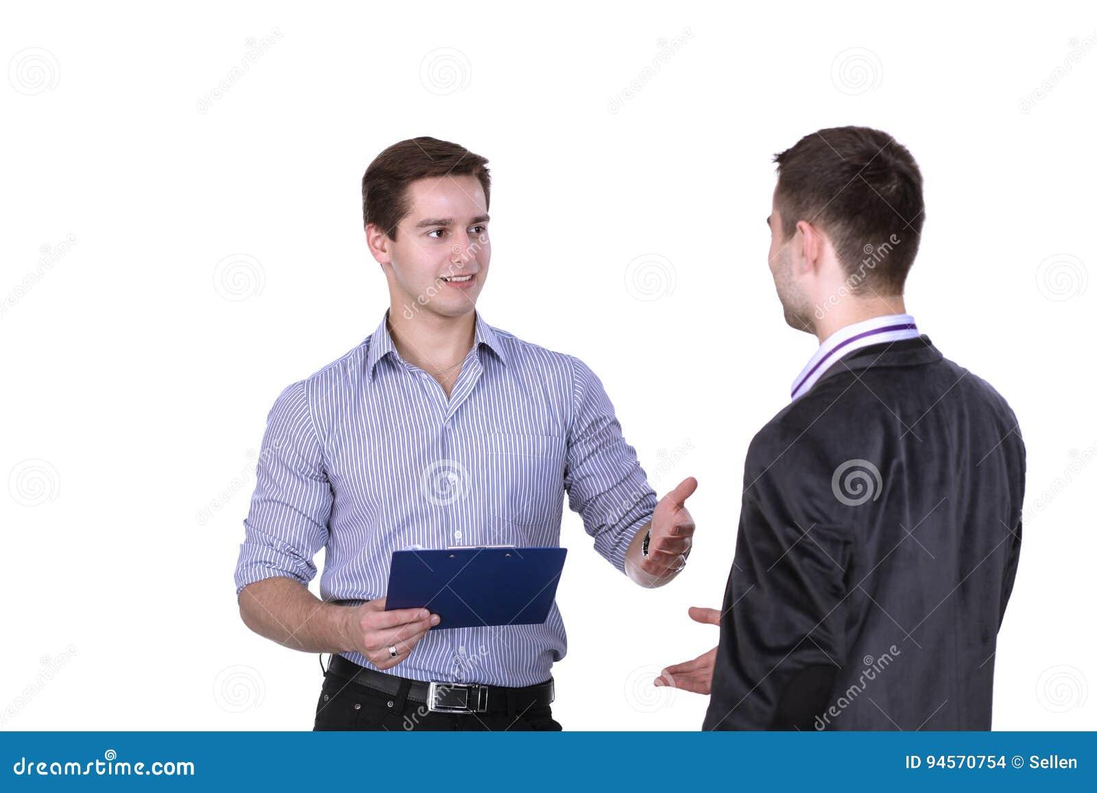 Επιχειρηματίες που τινάζουν τα χέρια, που απομονώνονται στο άσπρο υπόβαθρο
