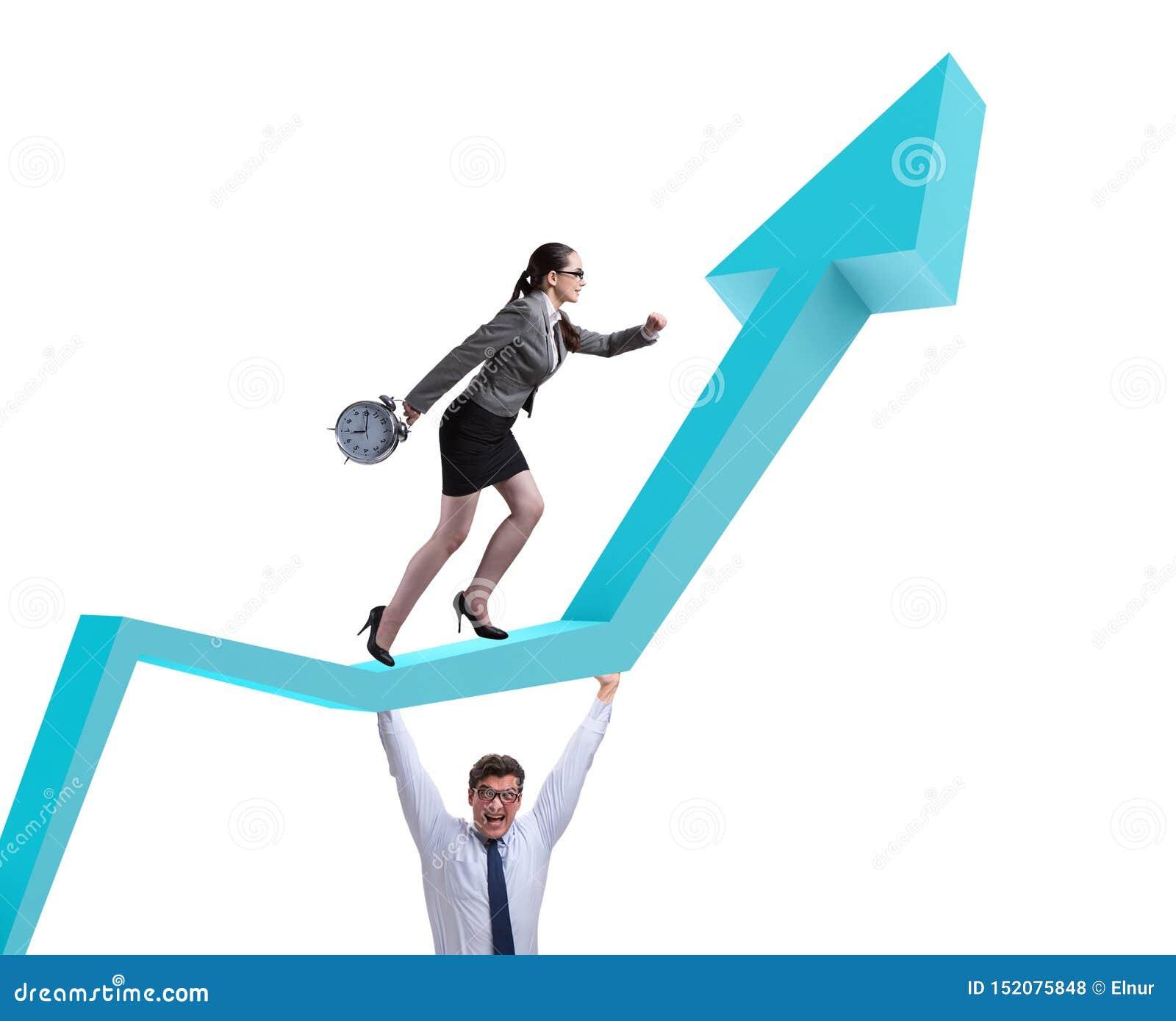 Επιχειρηματίες στην επιχειρησιακή έννοια οικονομικής αποκατάστασης