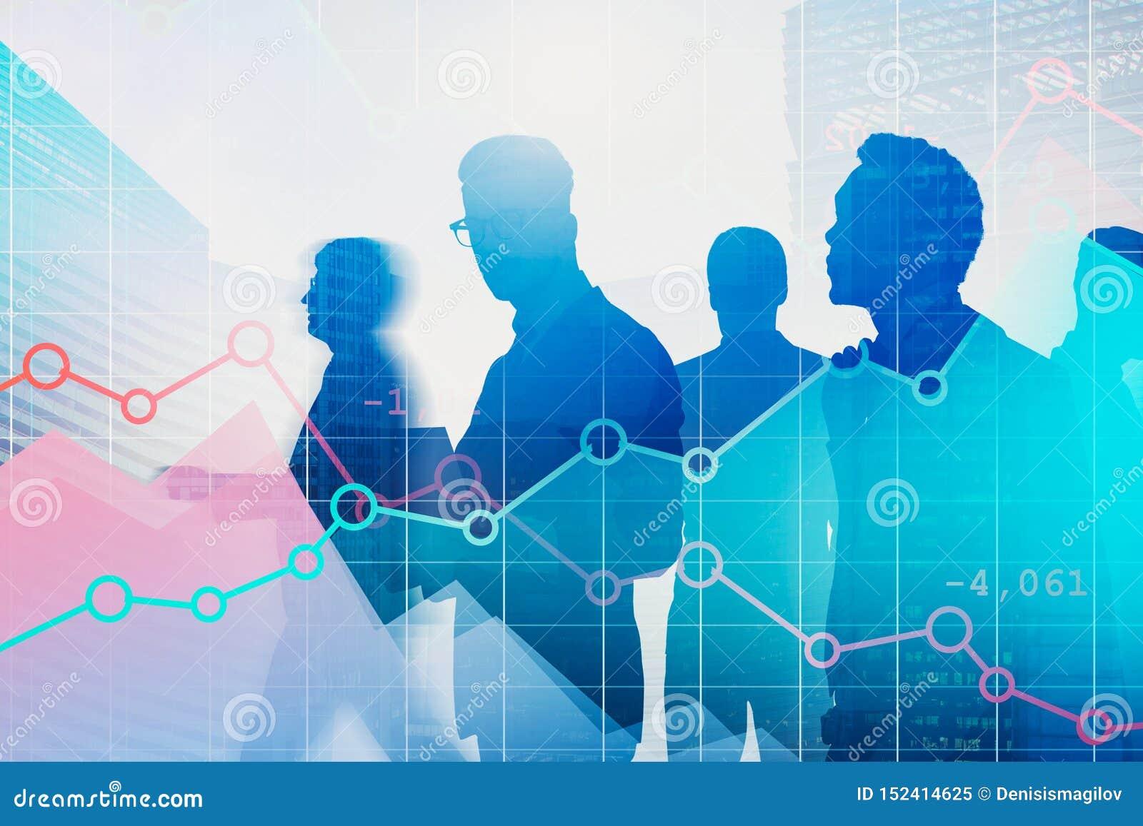 Επιχειρηματίες στην πόλη, γραφικές παραστάσεις Forex