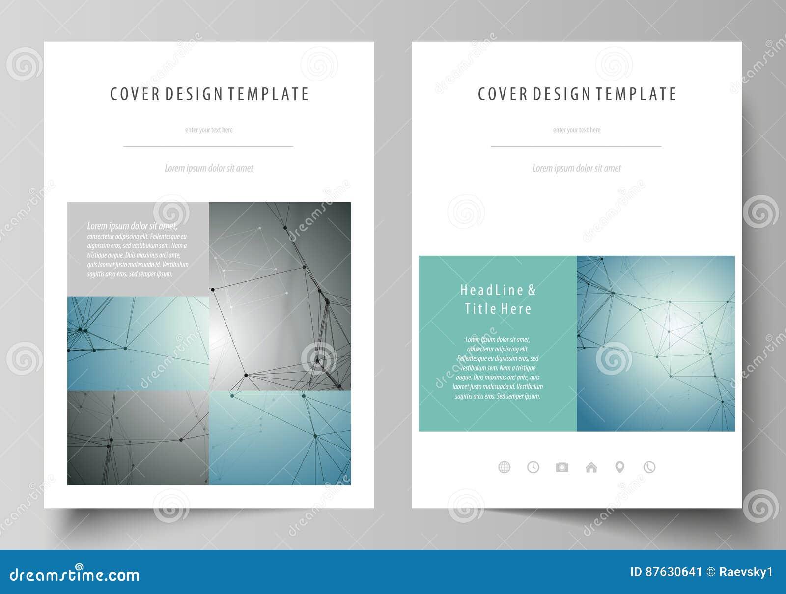 Επιχειρησιακά πρότυπα για το φυλλάδιο, περιοδικό, ιπτάμενο, βιβλιάριο, έκθεση Πρότυπο σχεδίου κάλυψης, διανυσματικό σχεδιάγραμμα