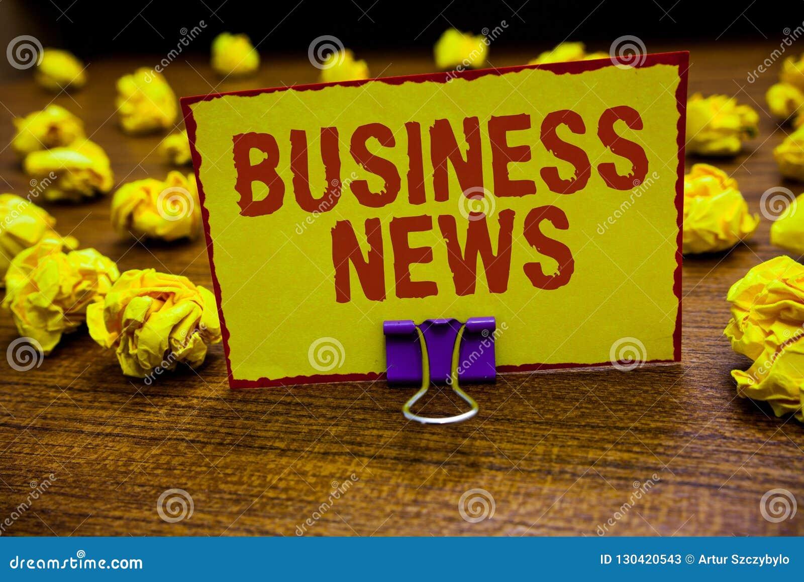 Επιχειρησιακές ειδήσεις κειμένων γραψίματος λέξης Επιχειρησιακή έννοια για την εμπορική ειδοποίησης εμπορικών εκθέσεων αγοράς εκμ