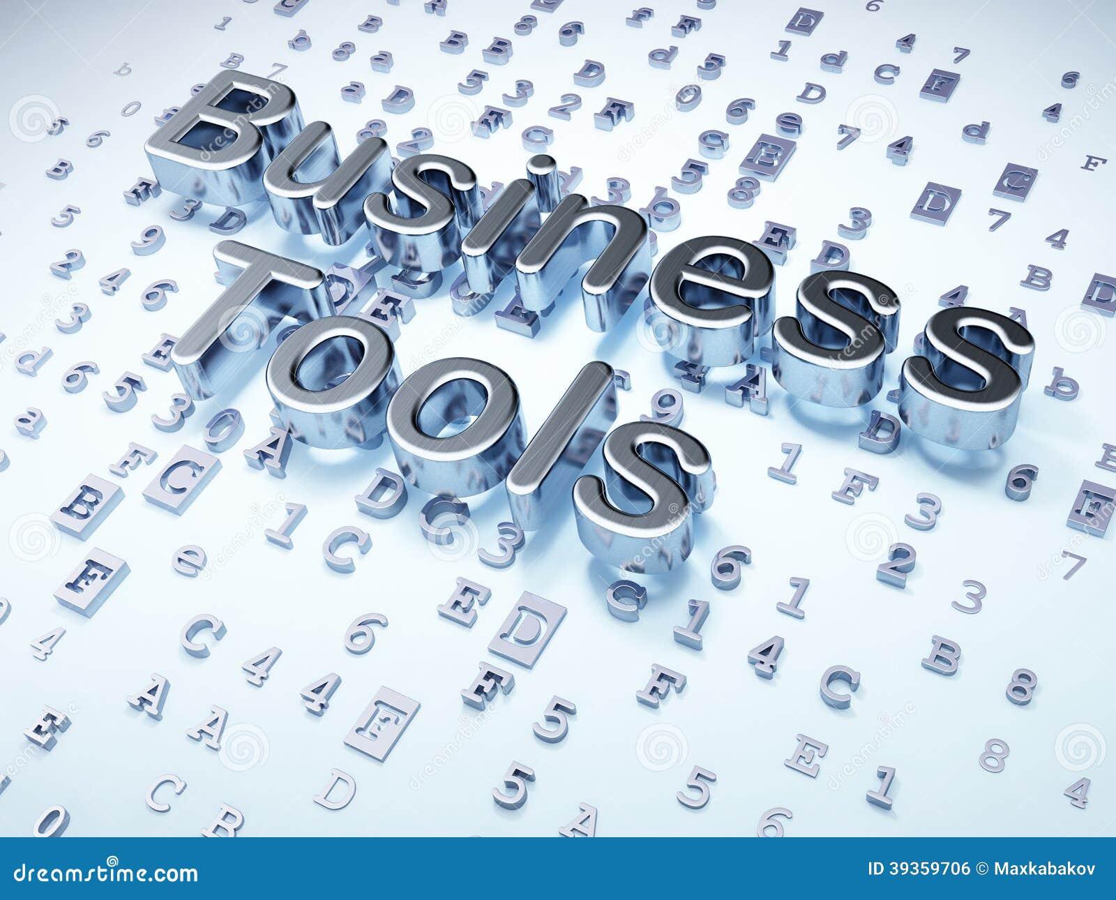 Επιχειρησιακή έννοια: Ασημένια επιχειρησιακά εργαλεία στο ψηφιακό υπόβαθρο