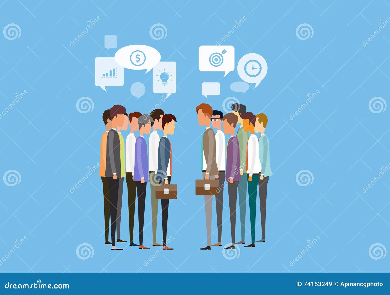 επιχειρησιακή συνεδρίαση δύο ανθρώπων ομάδας και έννοια επιχειρησιακών επικοινωνιών