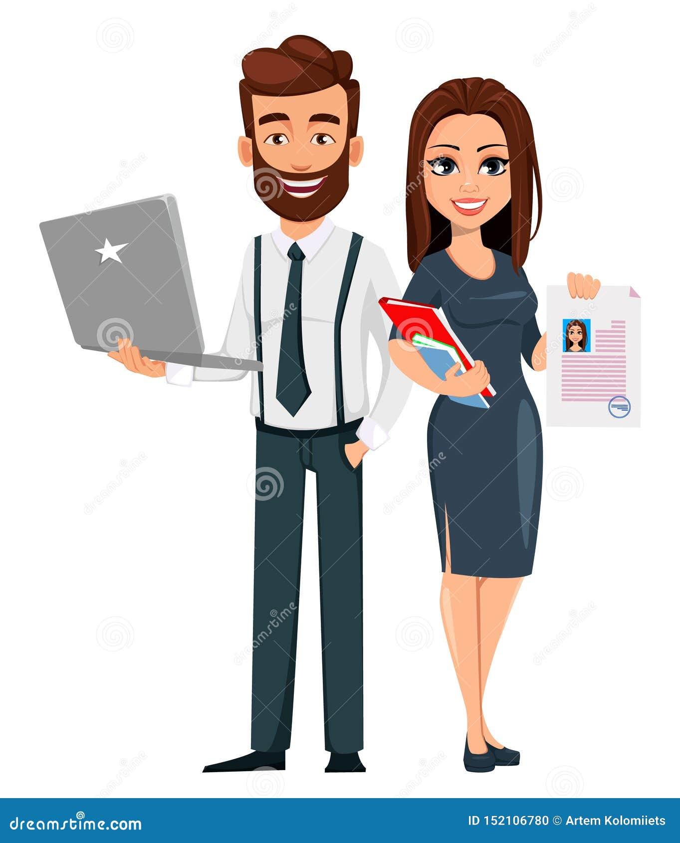 Επιχειρησιακός άνδρας και επιχειρησιακή γυναίκα