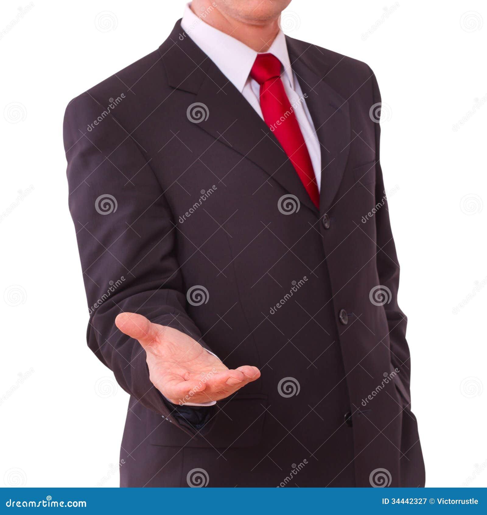 Επιχειρησιακό άτομο με το κενό χέρι