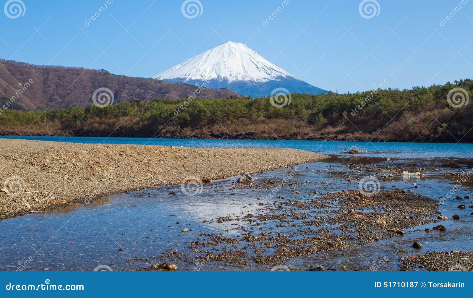 Εποχή του Φούτζι βουνών την άνοιξη