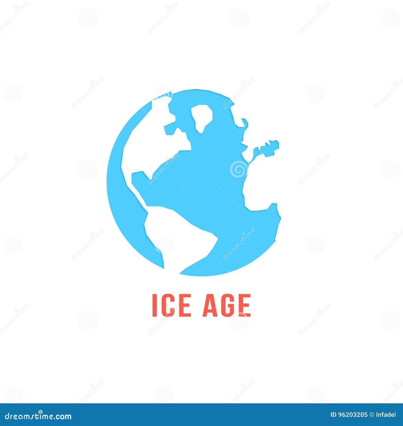 Εποχή των παγετώνων με τον μπλε πλανήτη Γη
