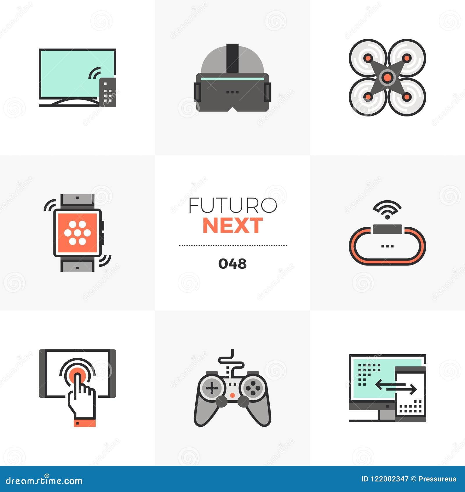 Επόμενα εικονίδια Futuro συσκευών τεχνολογίας