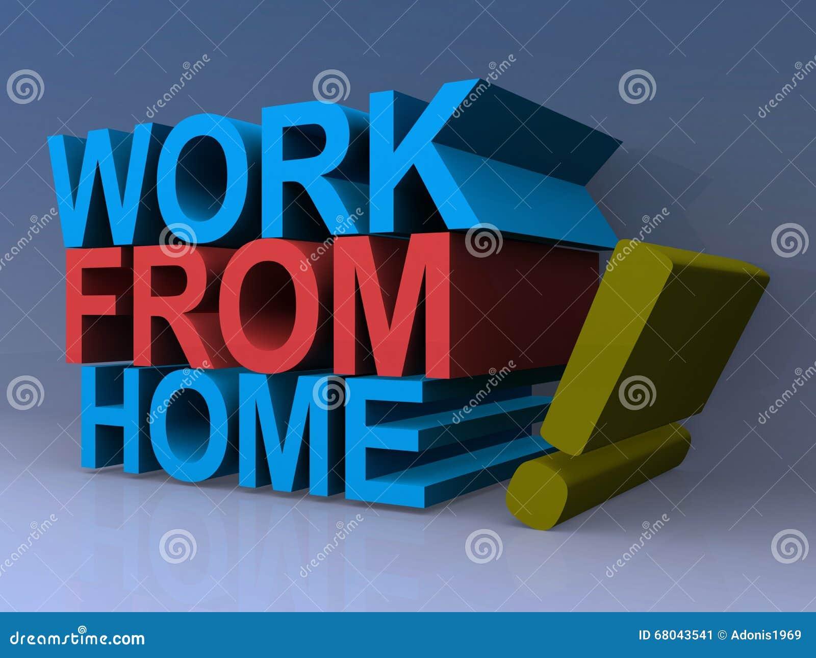 Εργασία από το εγχώριο σημάδι