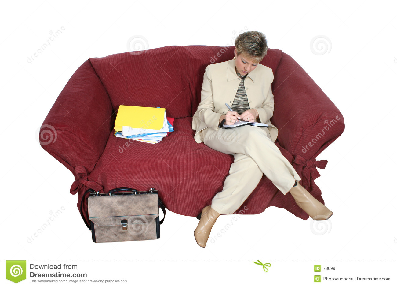 εργασία βασικών γυναικών επιχειρησιακών καναπέδων