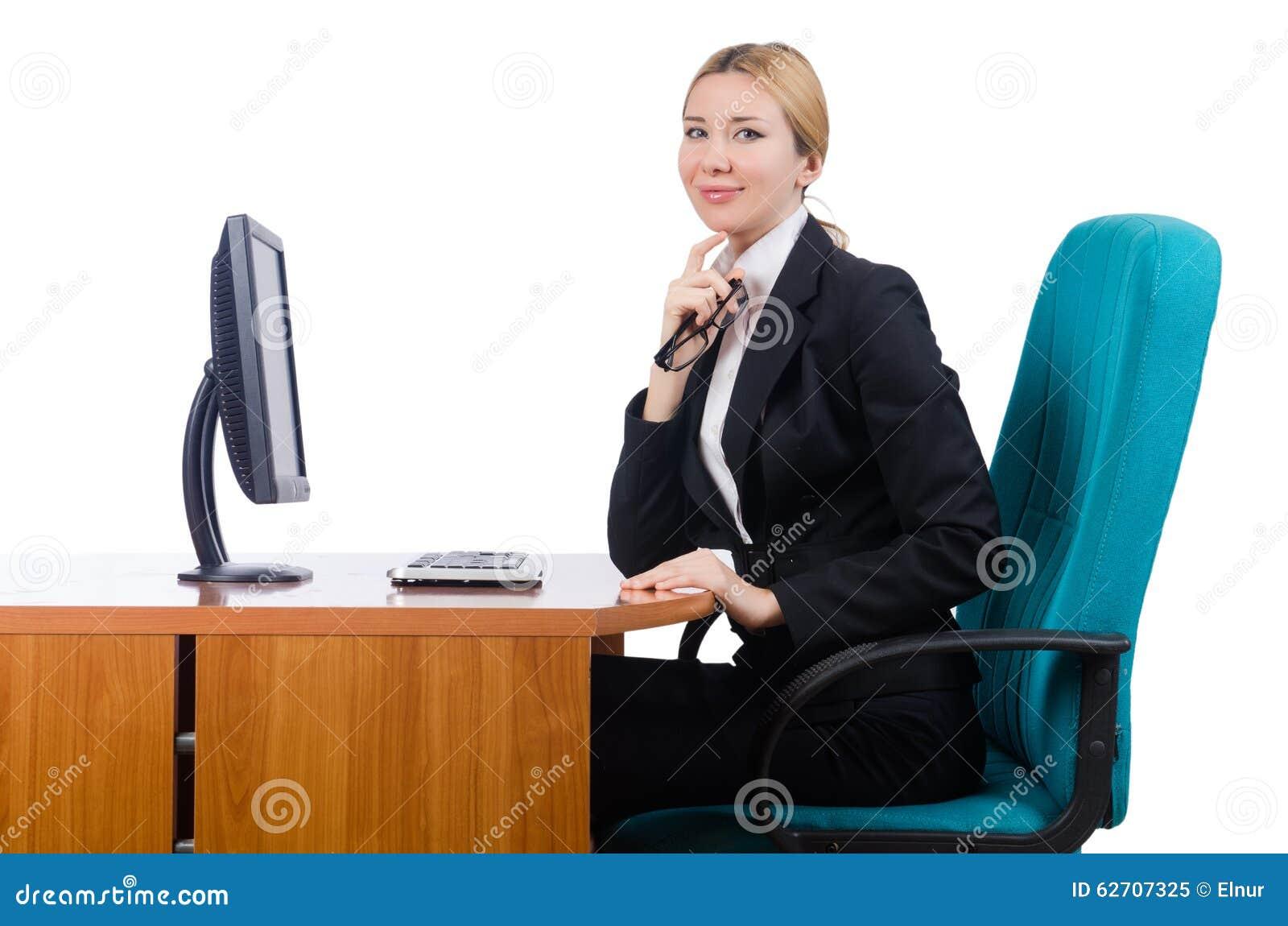 Εργασία επιχειρηματιών γυναικών που απομονώνεται στο λευκό