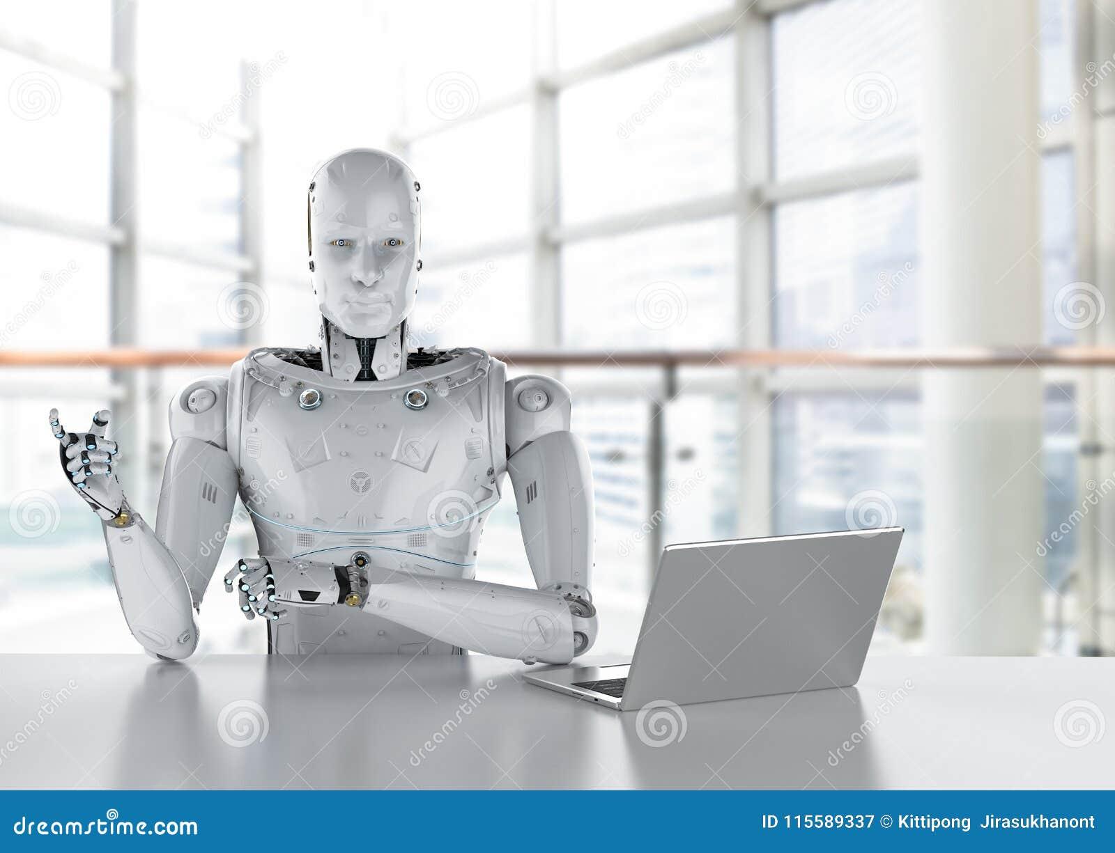 Εργασία ρομπότ για το lap-top