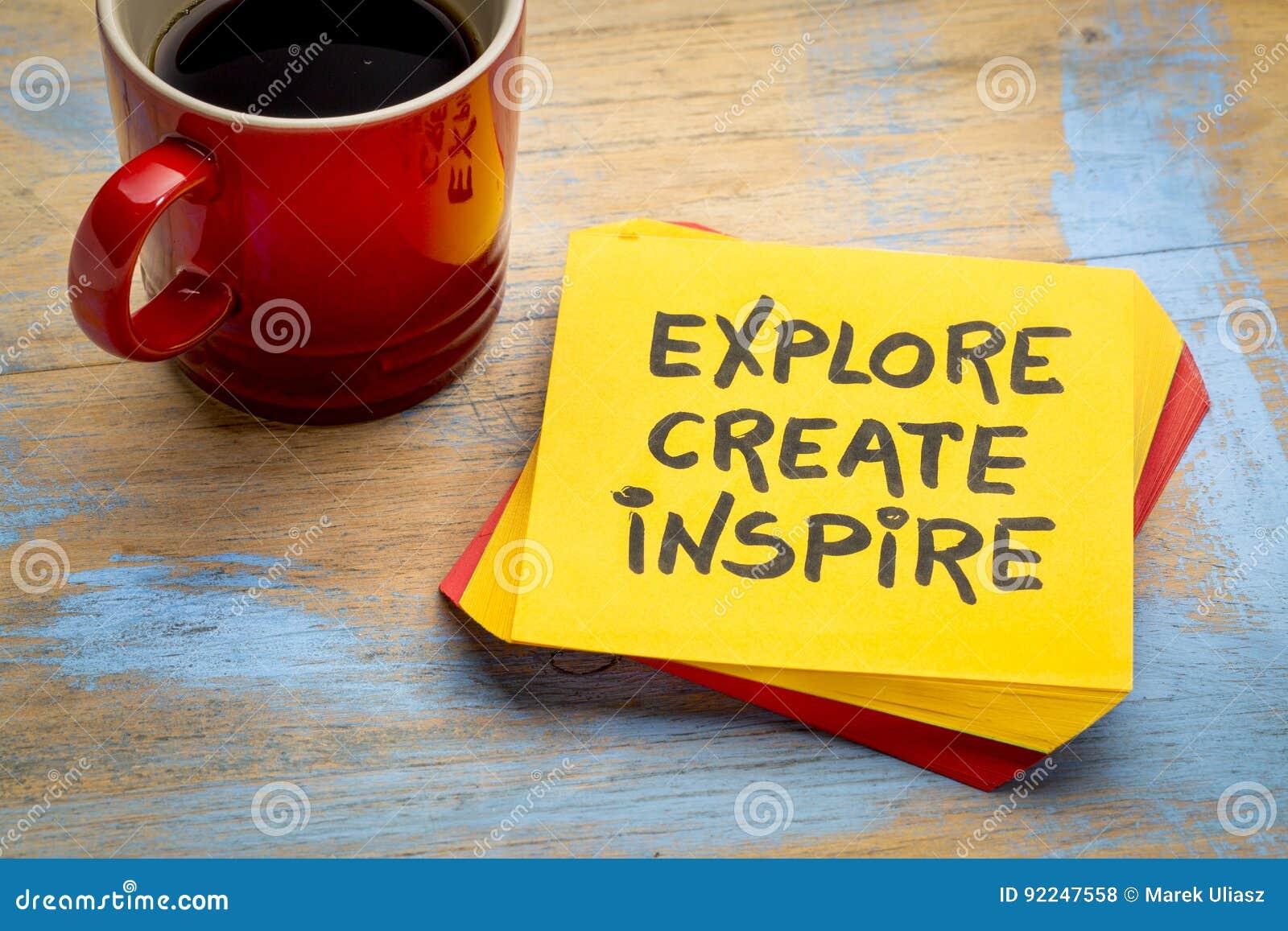 Ερευνήστε, δημιουργήστε, εμπνεύστε την έννοια στην πετσέτα