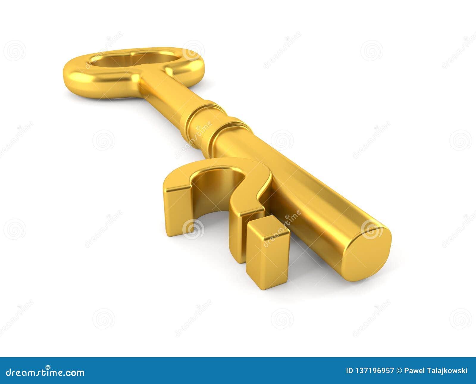 Ερωτηματικό με το χρυσό κλειδί