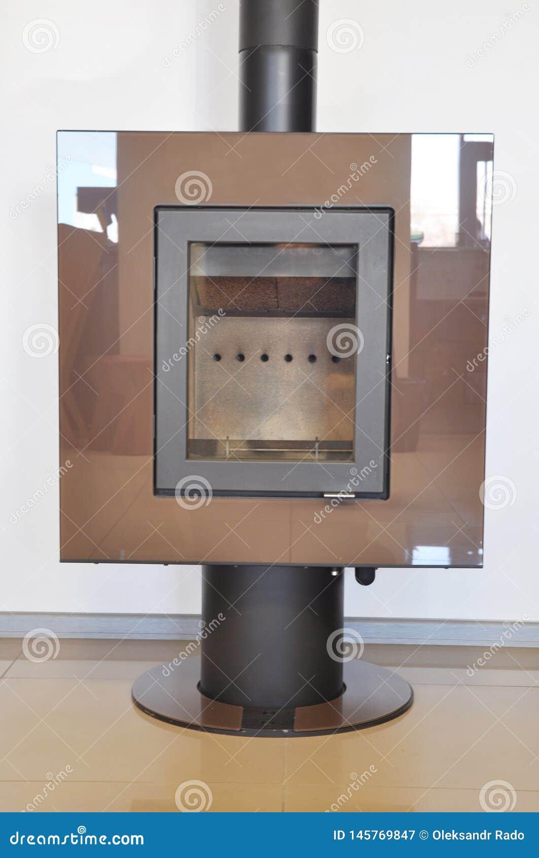 Εστία με τη θέρμανση φυσικού αερίου για το σπίτι Σύγχρονη εστία φυσικού αερίου