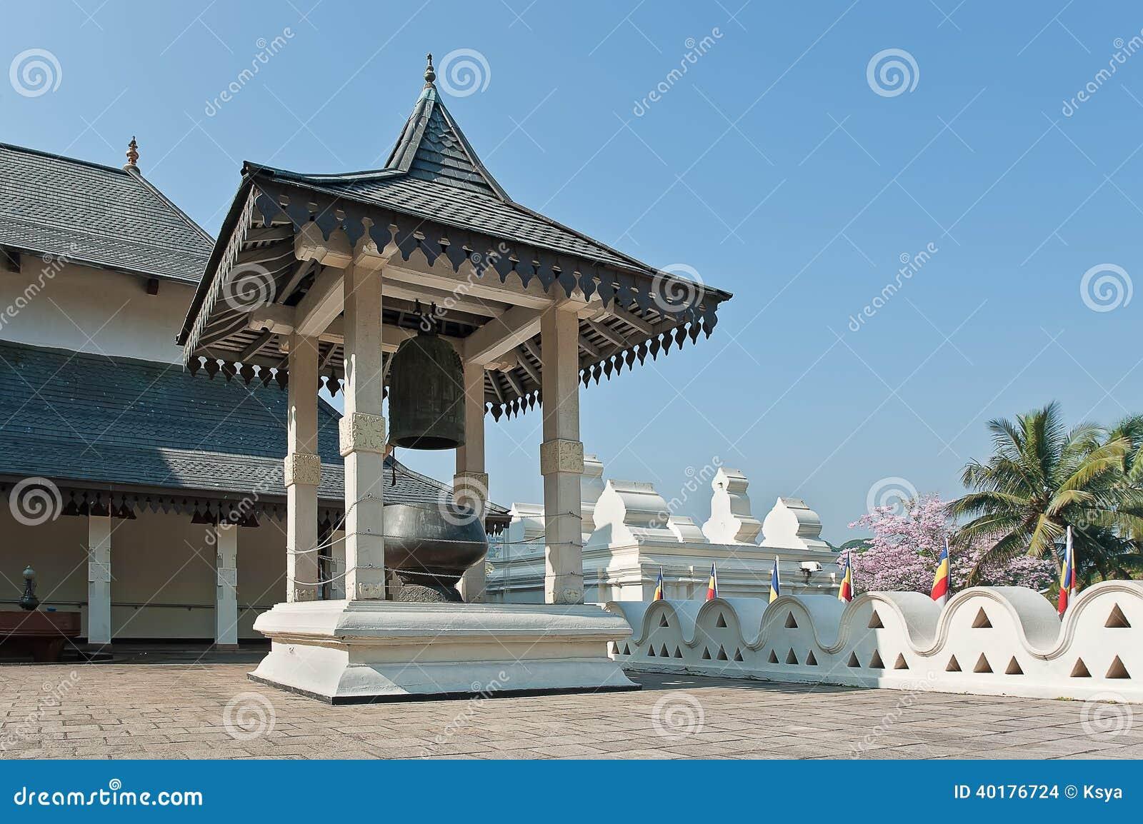 Εσωτερικά κτήρια του βουδιστικού ναού του λειψάνου δοντιών σε Kandy, Σρι Λάνκα.