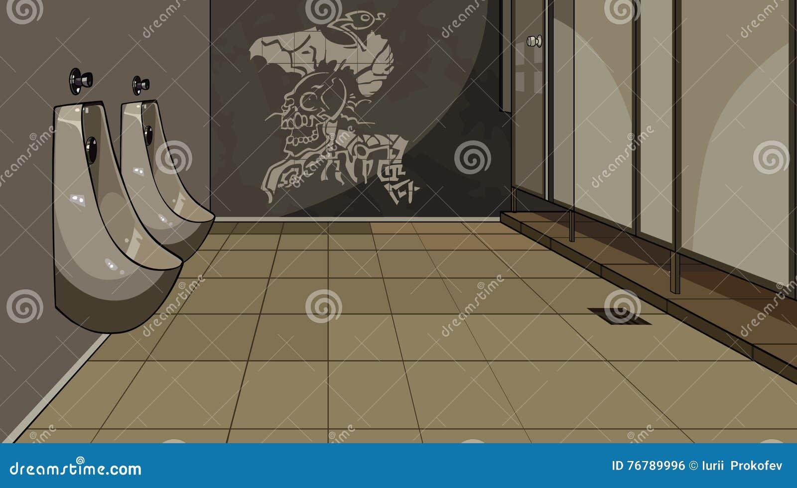 Εσωτερική ανδρική τουαλέτα με τα ουροδοχεία
