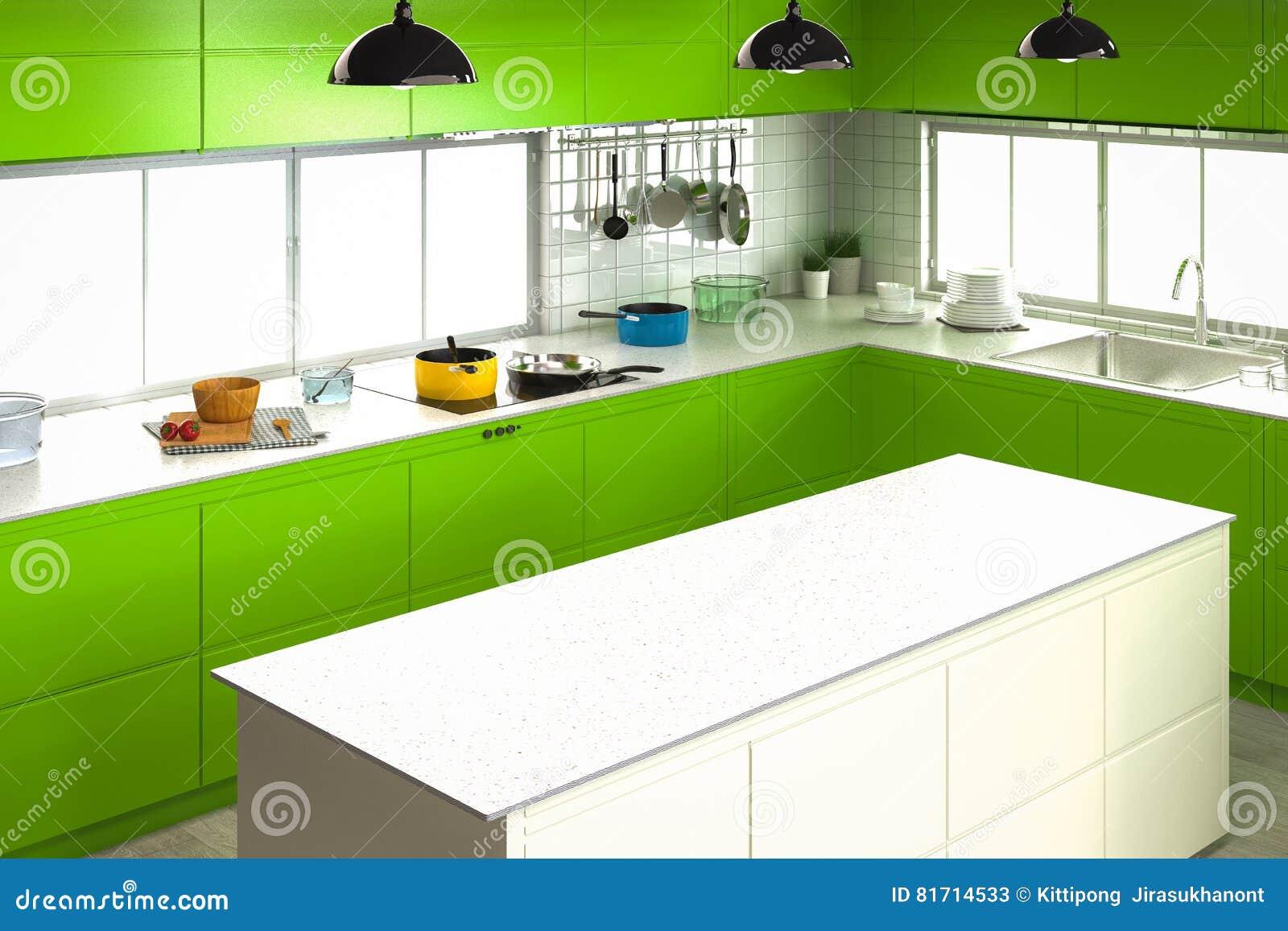 Εσωτερικό κουζινών με τον κενό μετρητή
