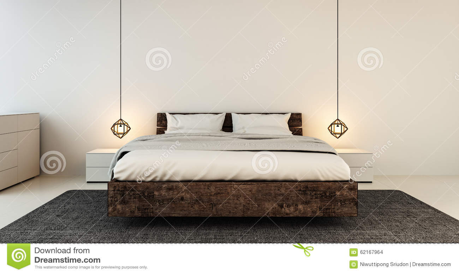 Εσωτερικό κρεβατοκάμαρων για τη σύγχρονη εγχώρια και ξενοδοχείων κρεβατοκάμαρα