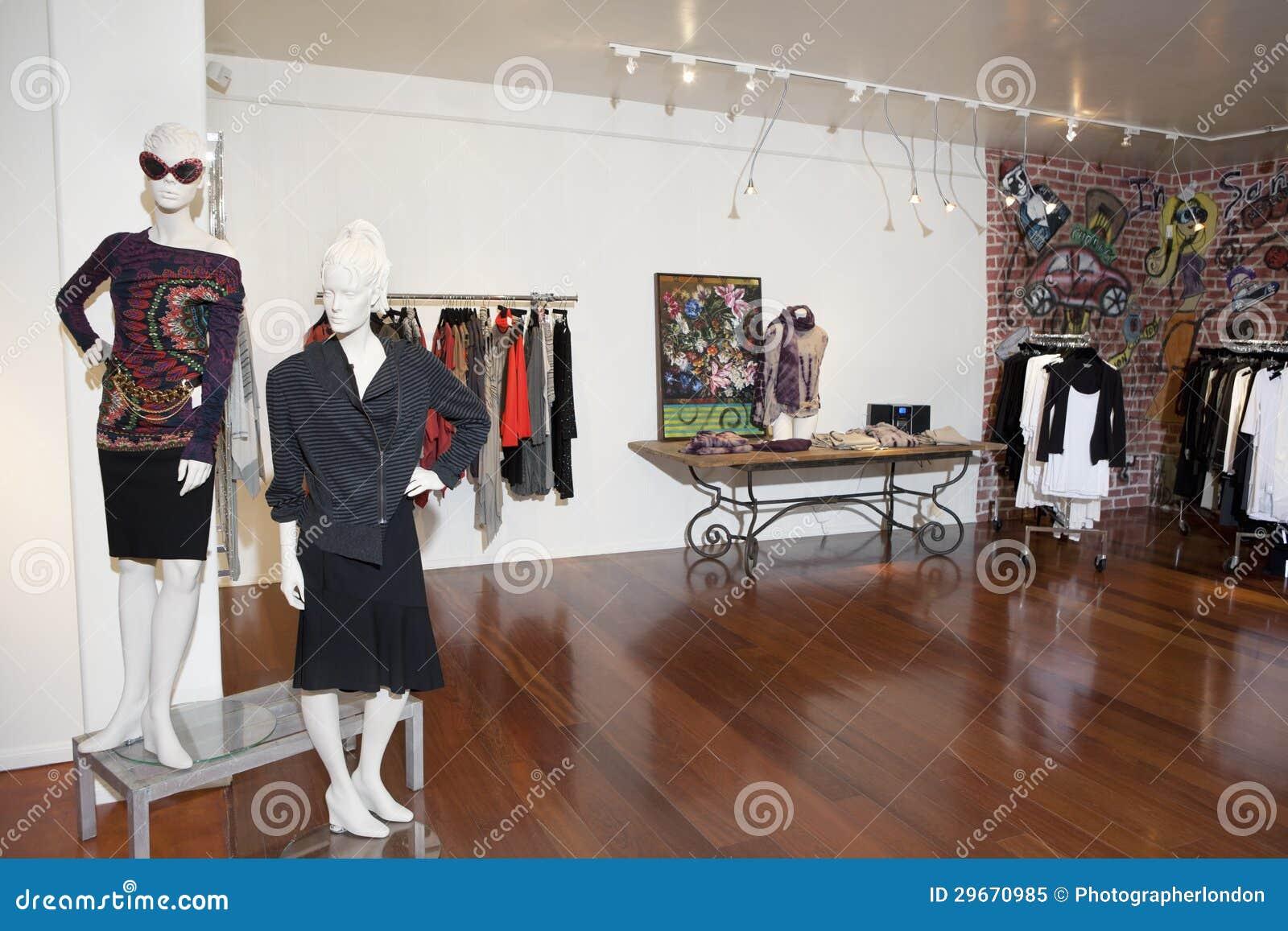 Εσωτερικό μιας μπουτίκ μόδας