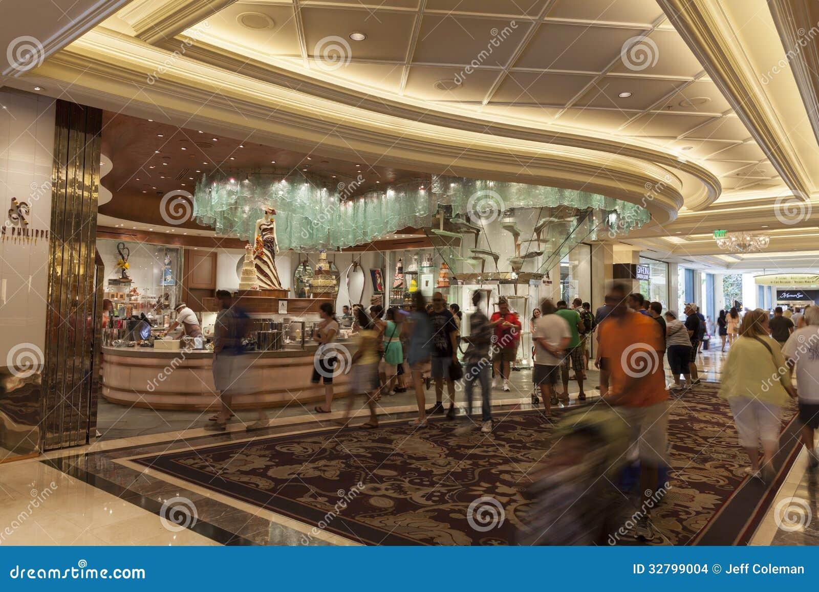 Εσωτερικό ξενοδοχείων του Μπελάτζιο στο Λας Βέγκας, NV στις 6 Αυγούστου 2013